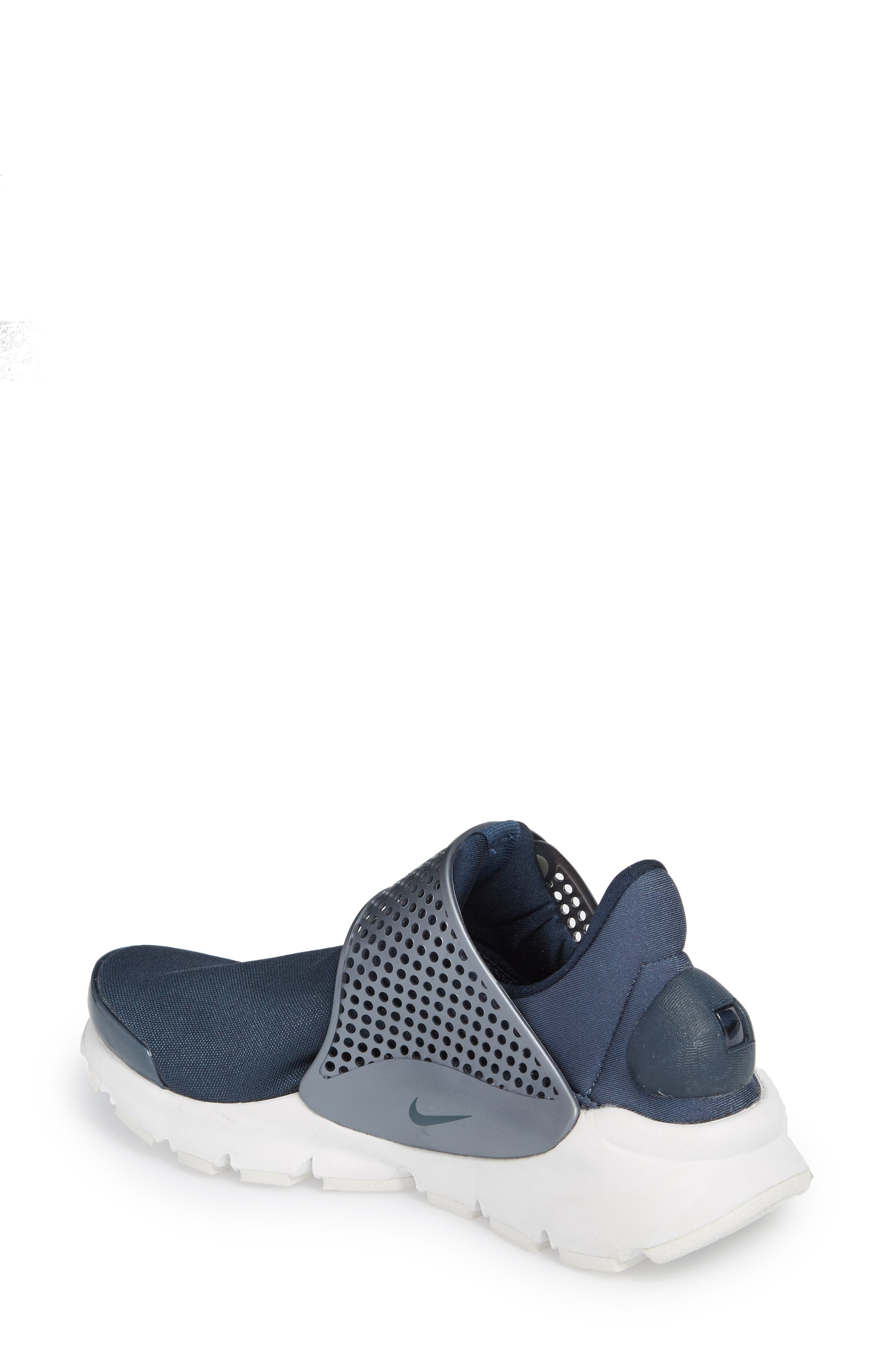 Sock Dart Sneaker,                             Alternate thumbnail 2, color,                             Metallic/ Armory Navy