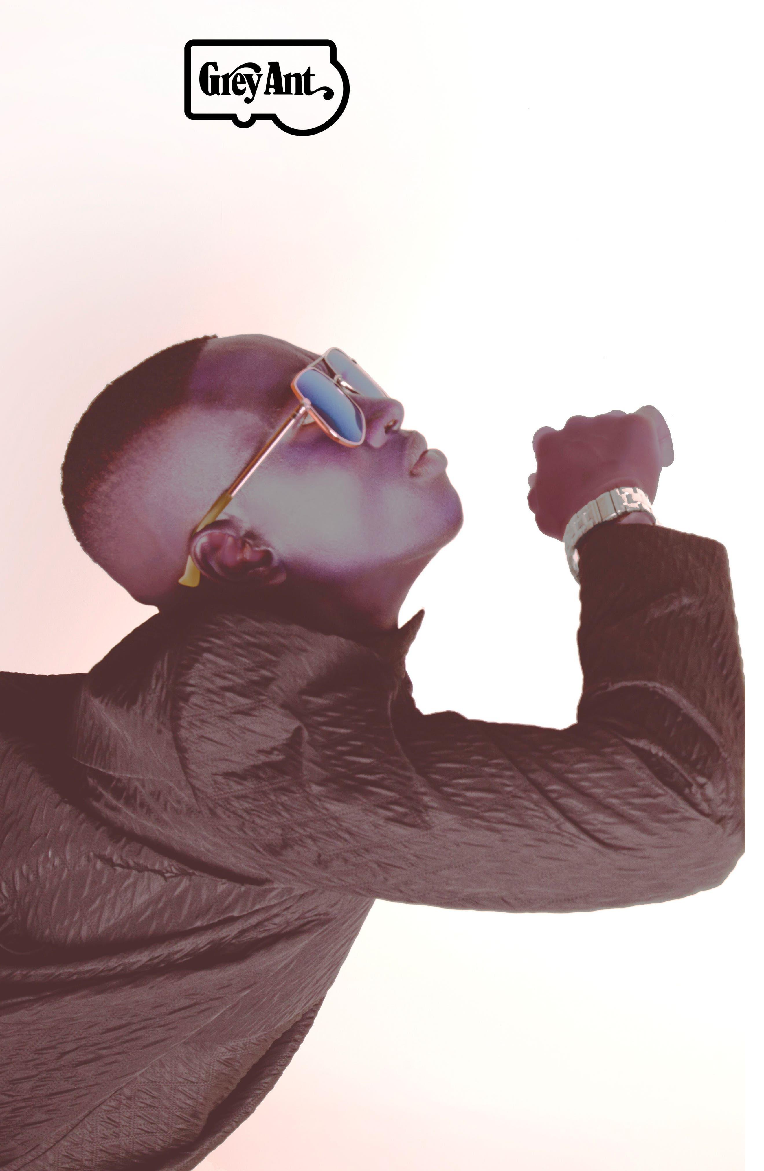 Megalast Flat 61mm Sunglasses,                             Alternate thumbnail 5, color,                             Copper Pink / Light Blue