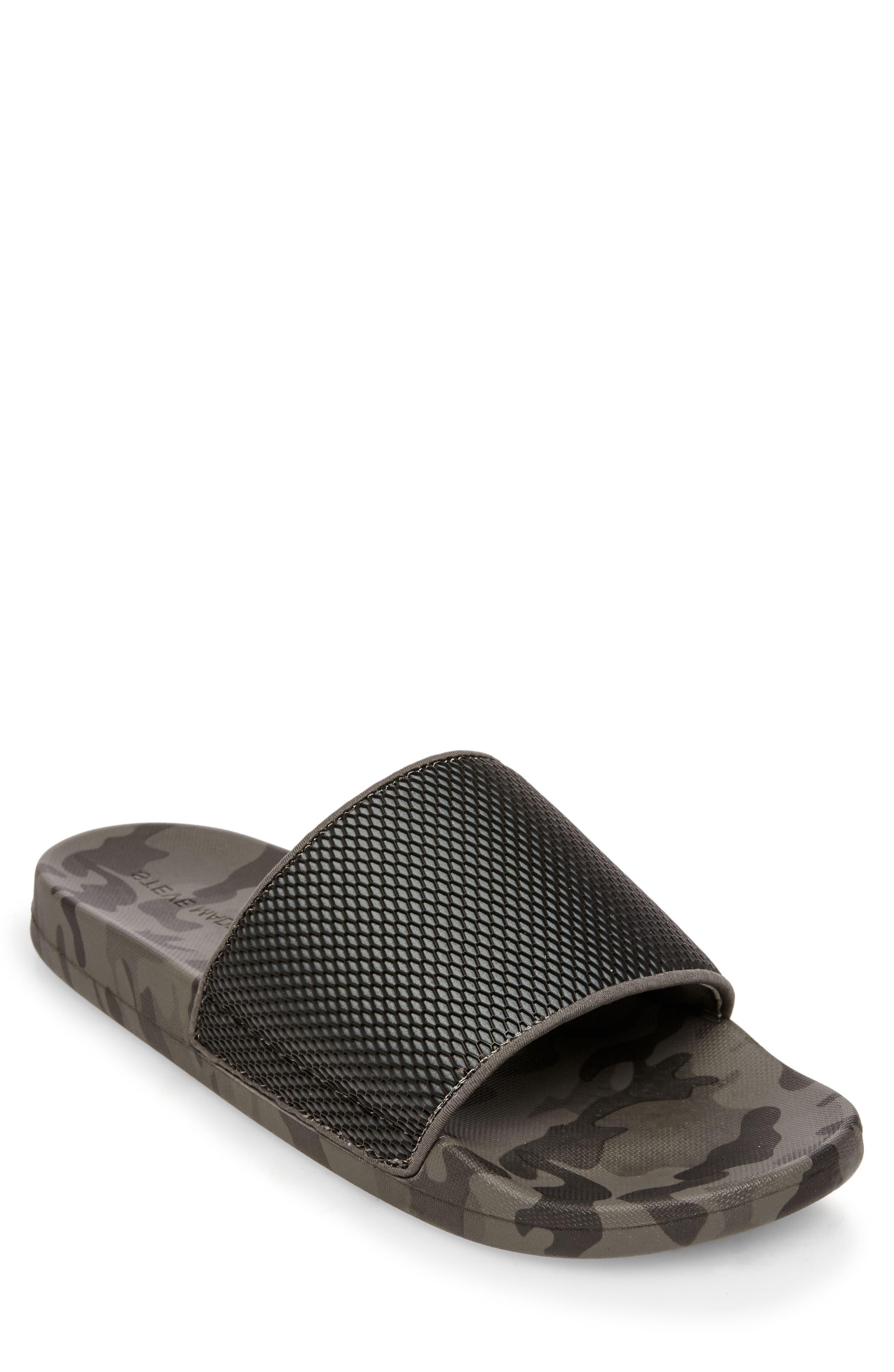 Seabees Textured Slide Sandal,                         Main,                         color, Grey Camo