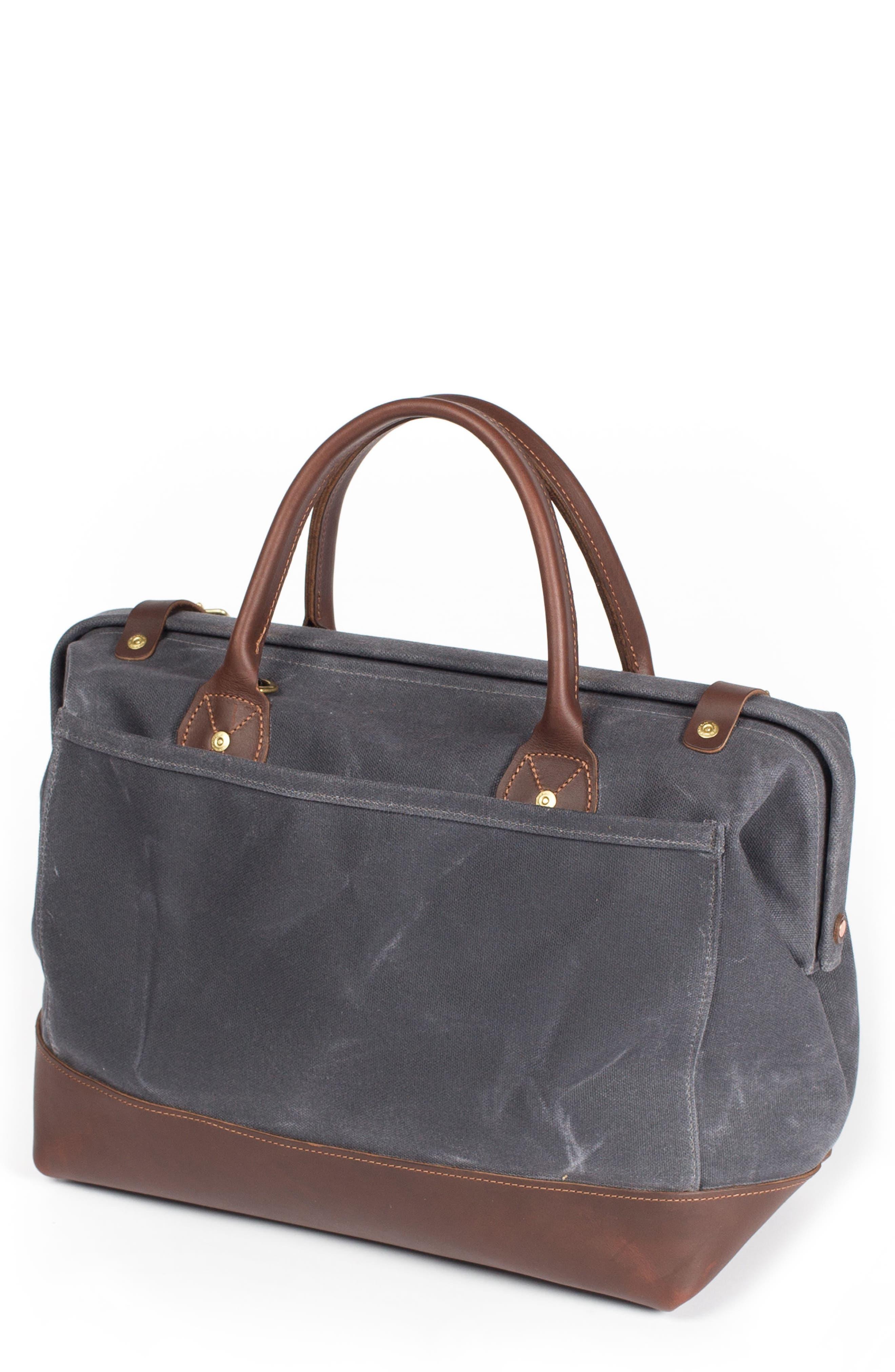 Carpenter Waxed Canvas Bag,                             Main thumbnail 1, color,                             Cambrian Slate