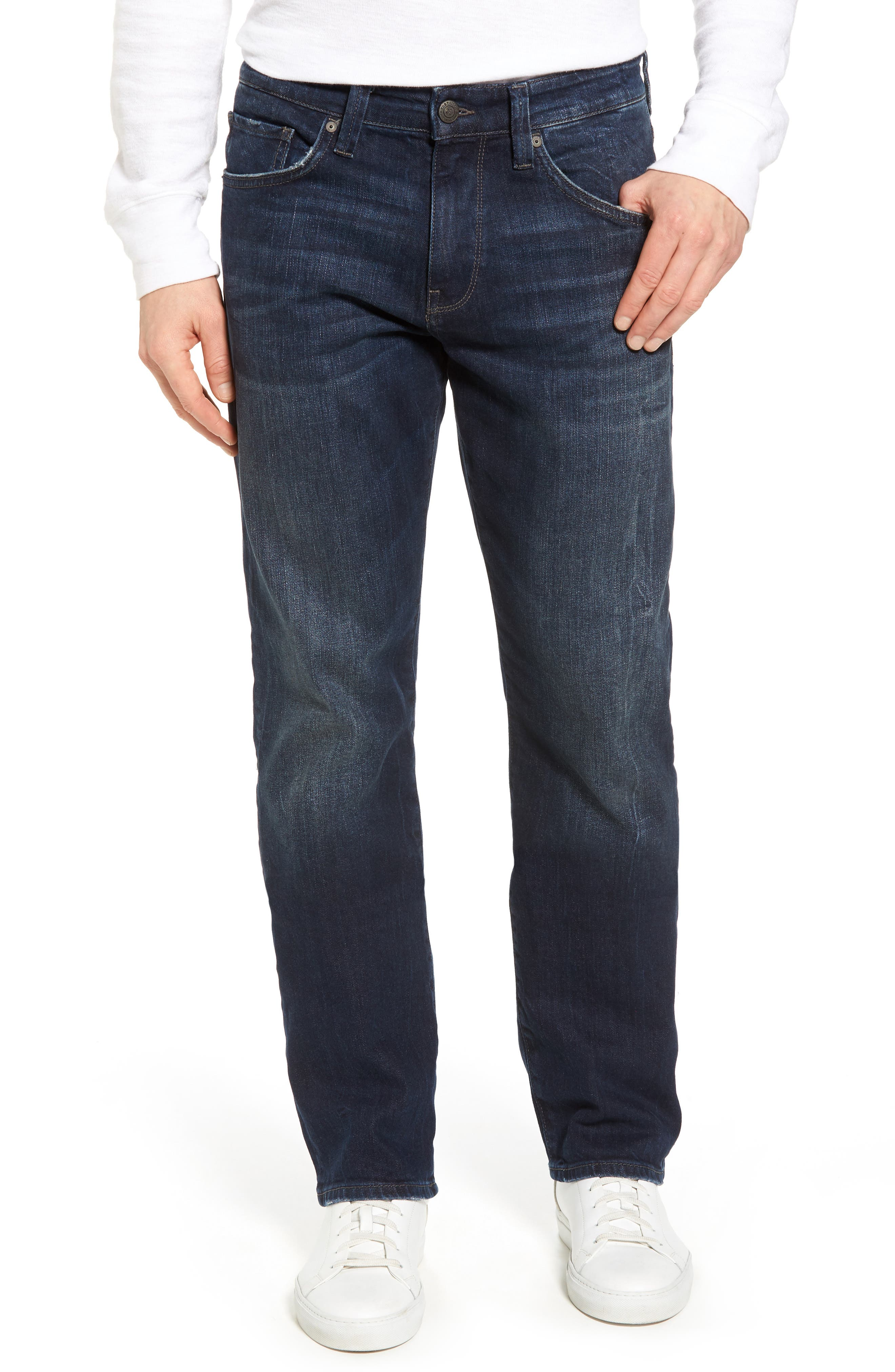 Mavi Jeans Myles Straight Leg Jeans (Deep Brooklyn)