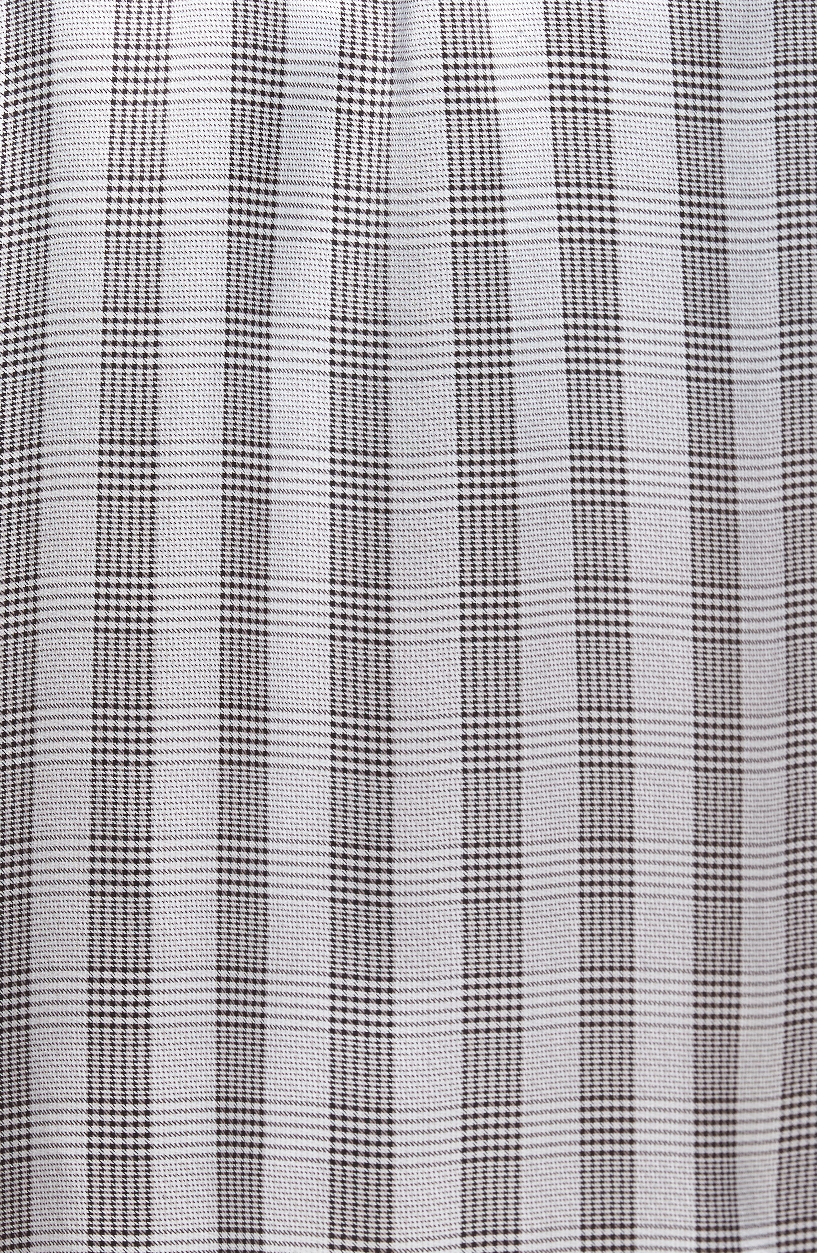 Silk Robe,                             Alternate thumbnail 5, color,                             Black/ Black Piping