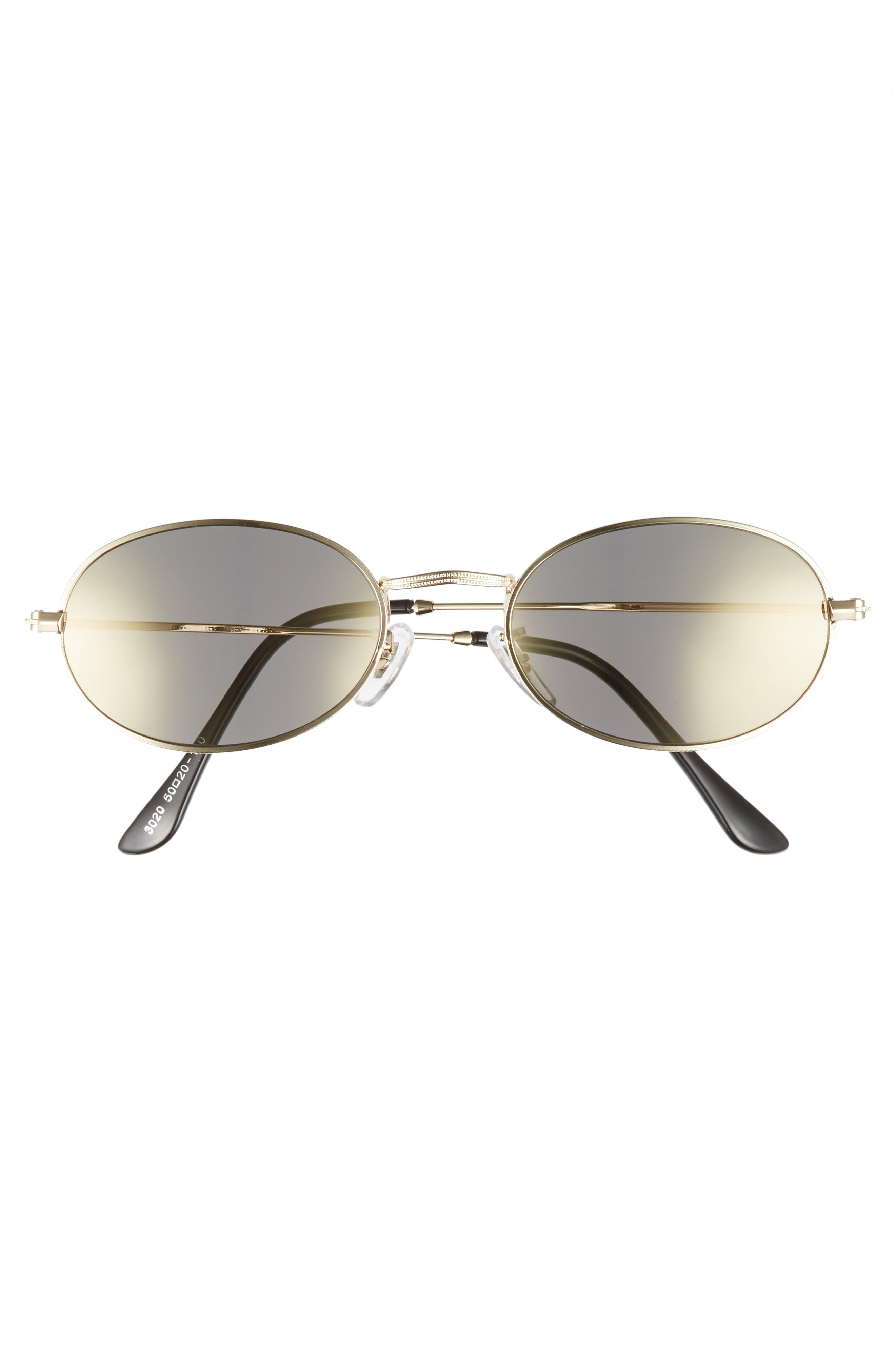 The Kendall 51mm Metal Sunglasses,                             Alternate thumbnail 3, color,                             Gold