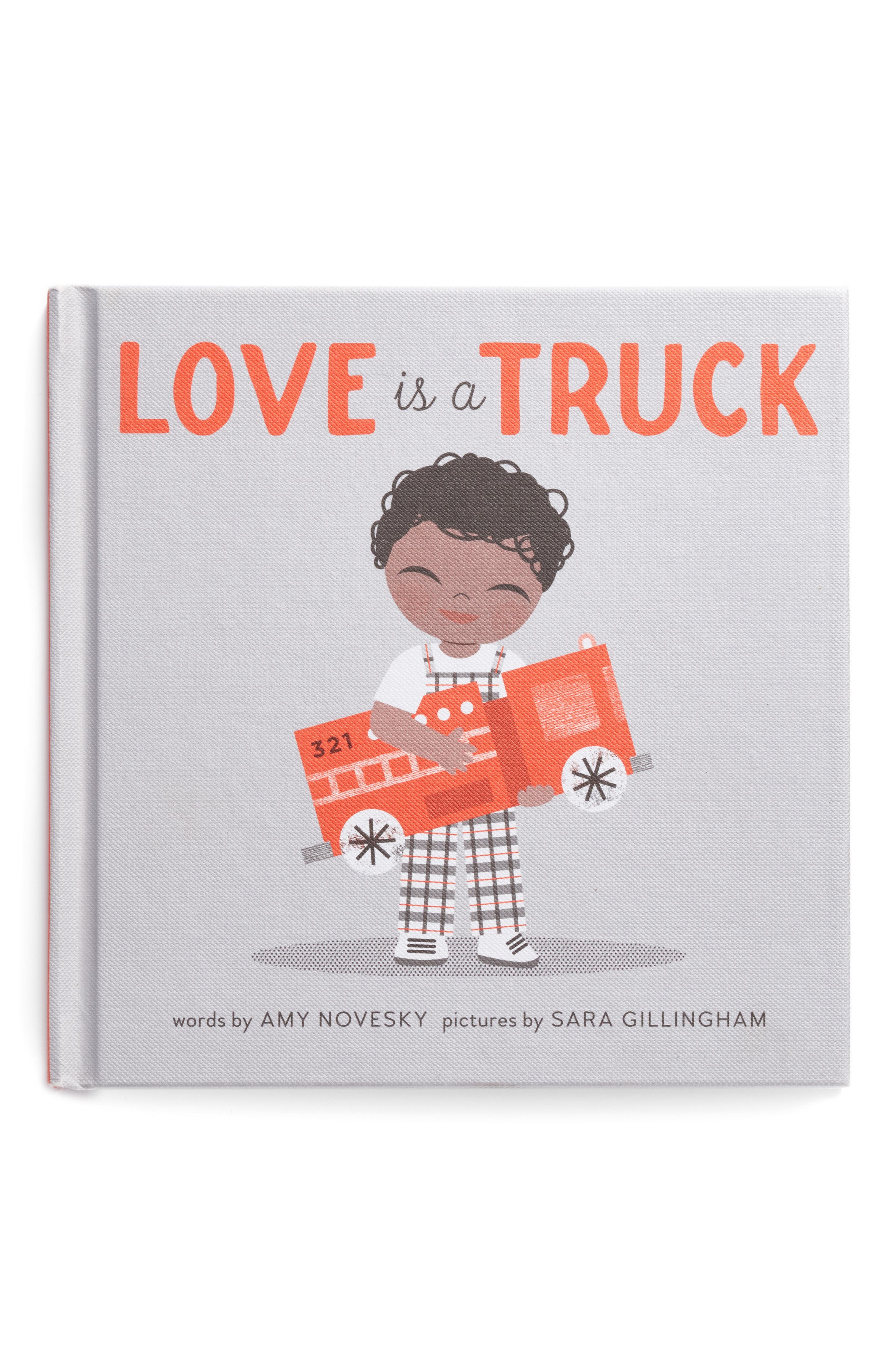 'Love is a Truck' Board Book,                             Main thumbnail 1, color,                             Grey