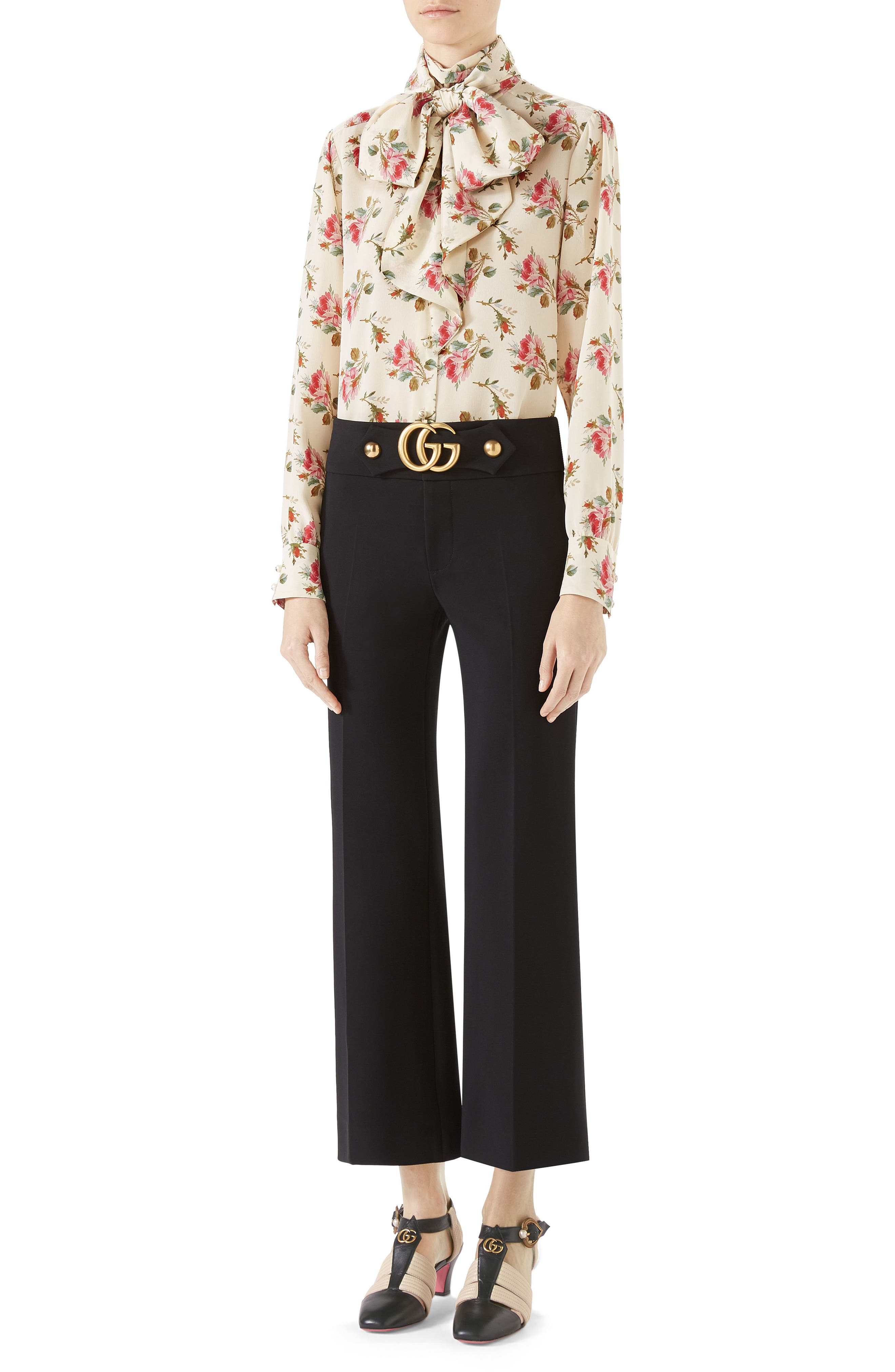 Alternate Image 3  - Gucci Marmont Stretch Jersey Crop Pants
