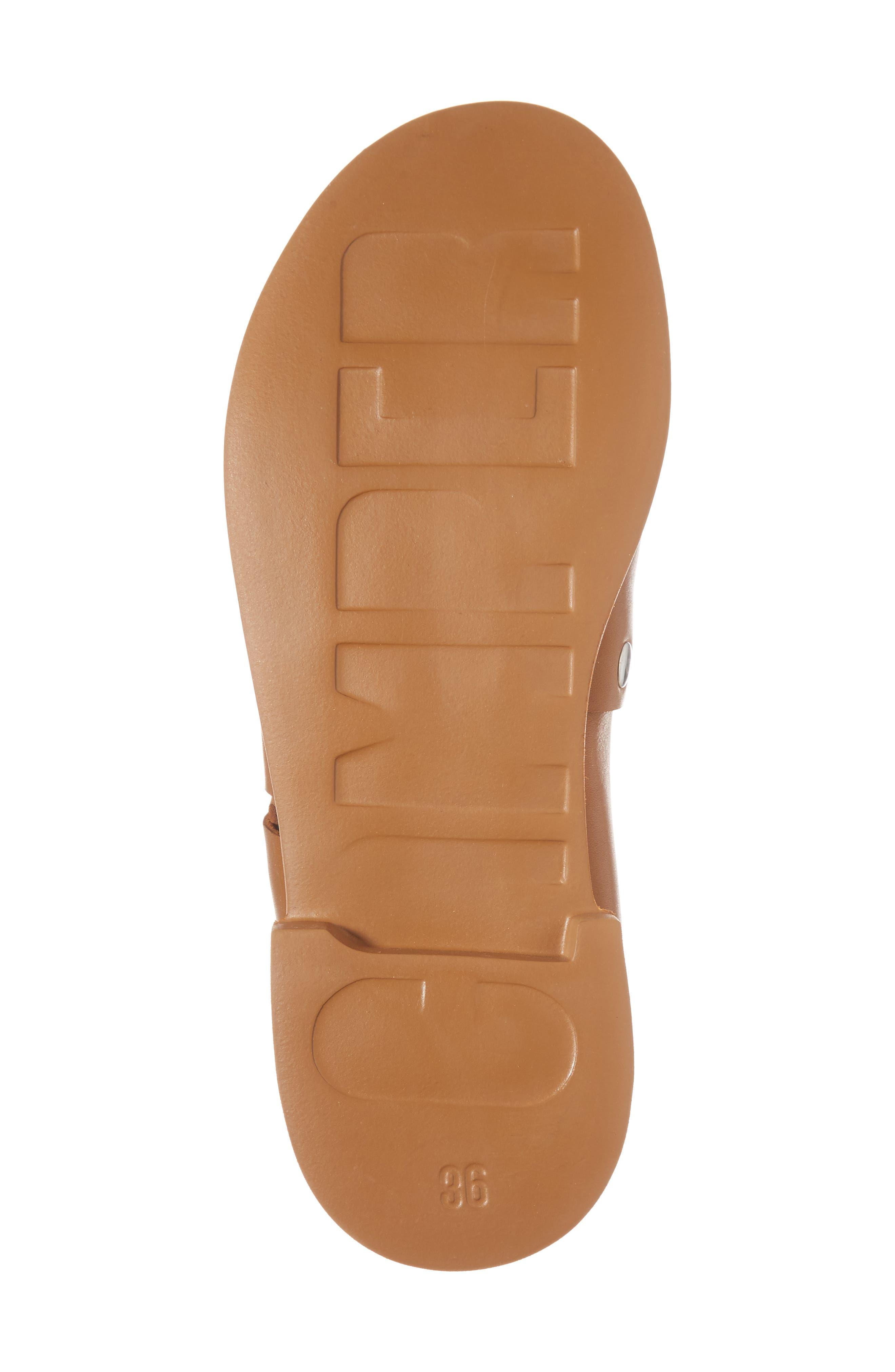 Edy Slingback Sandal,                             Alternate thumbnail 6, color,                             Rust/ Copper Leather