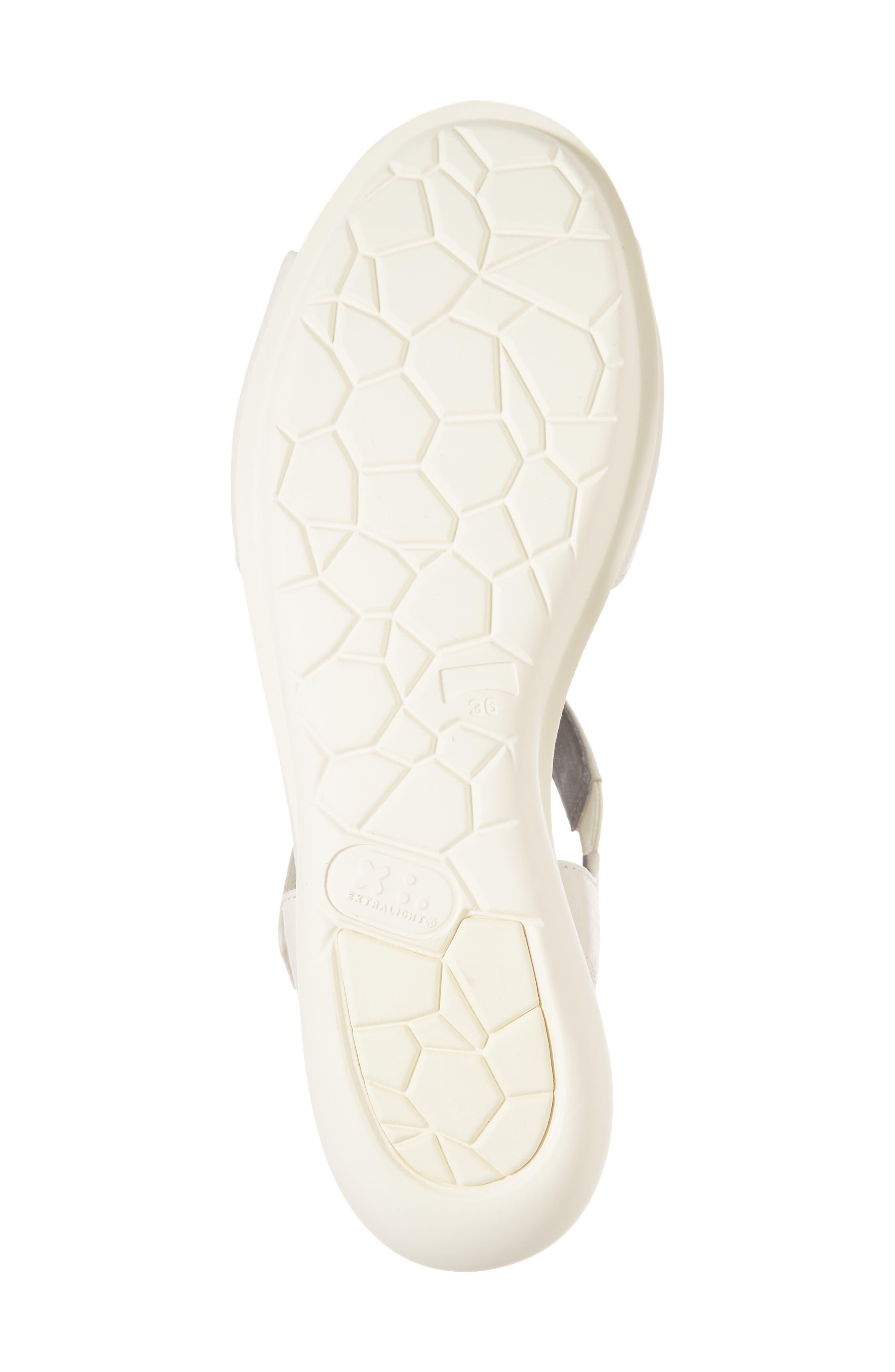 Balloon Wedge Sandal,                             Alternate thumbnail 6, color,                             Light Beige Leather