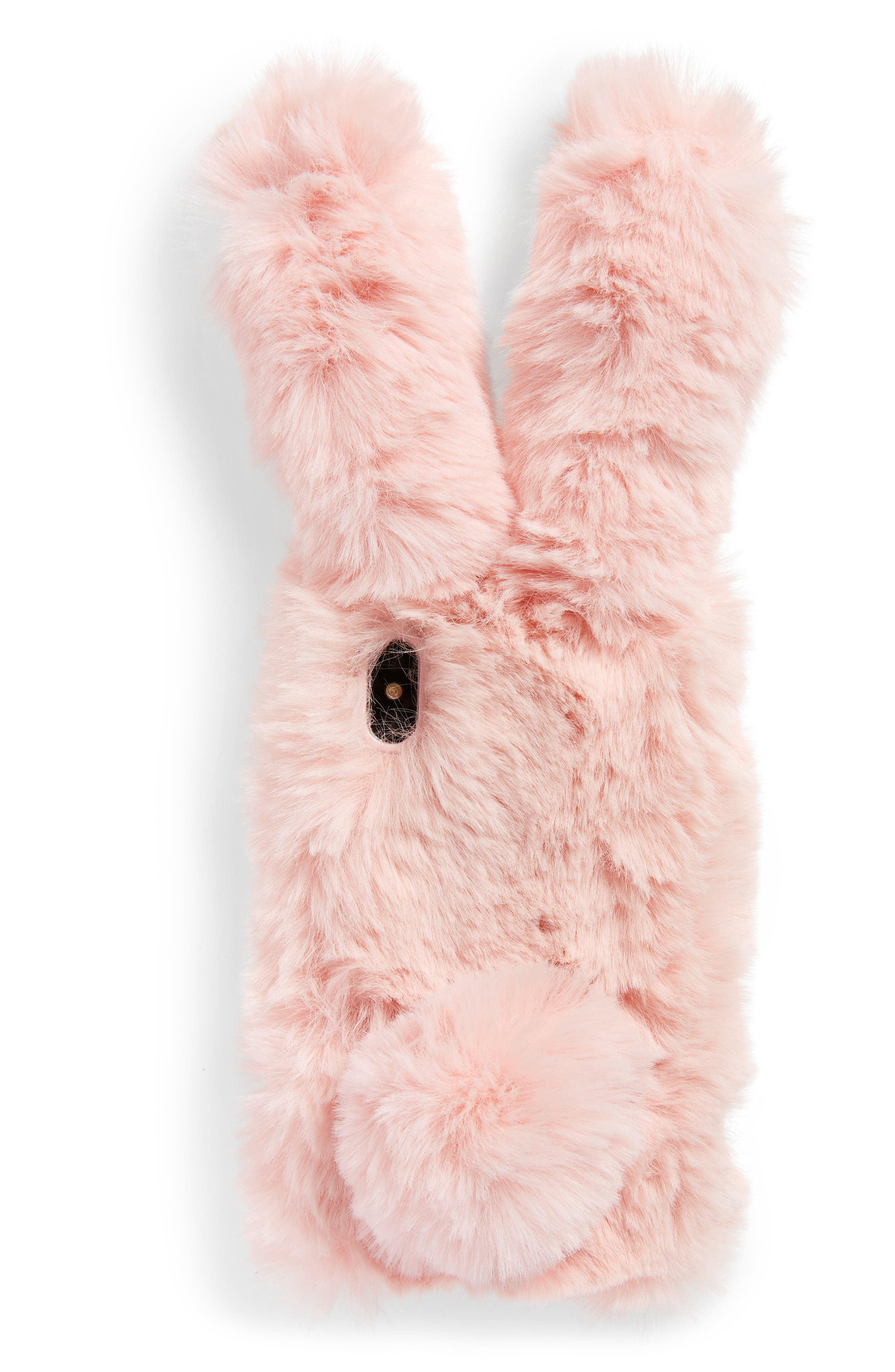 Alternate Image 1 Selected - candywirez Bunny Faux Fur iPhone X Case