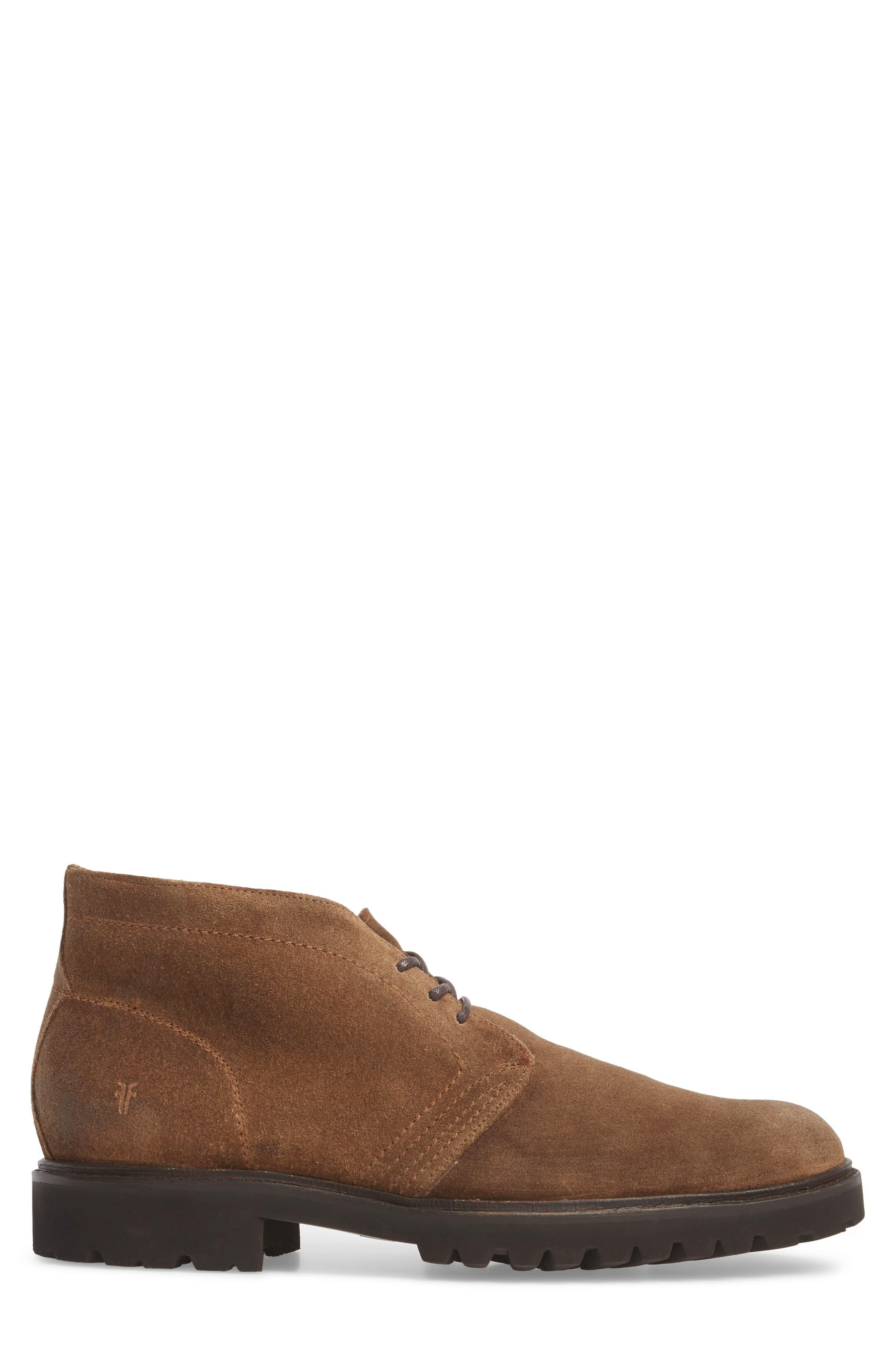 Edwin Waterproof Chukka Boot,                             Alternate thumbnail 3, color,                             Fawn Leather