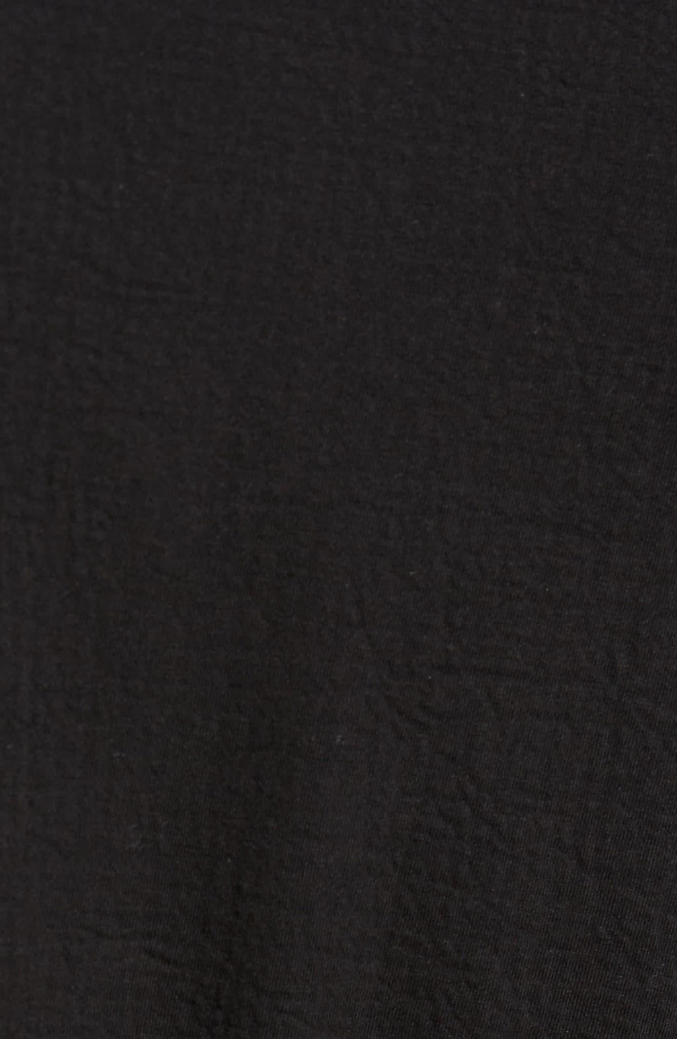 Zip Fleece Track Jacket,                             Alternate thumbnail 5, color,                             Black