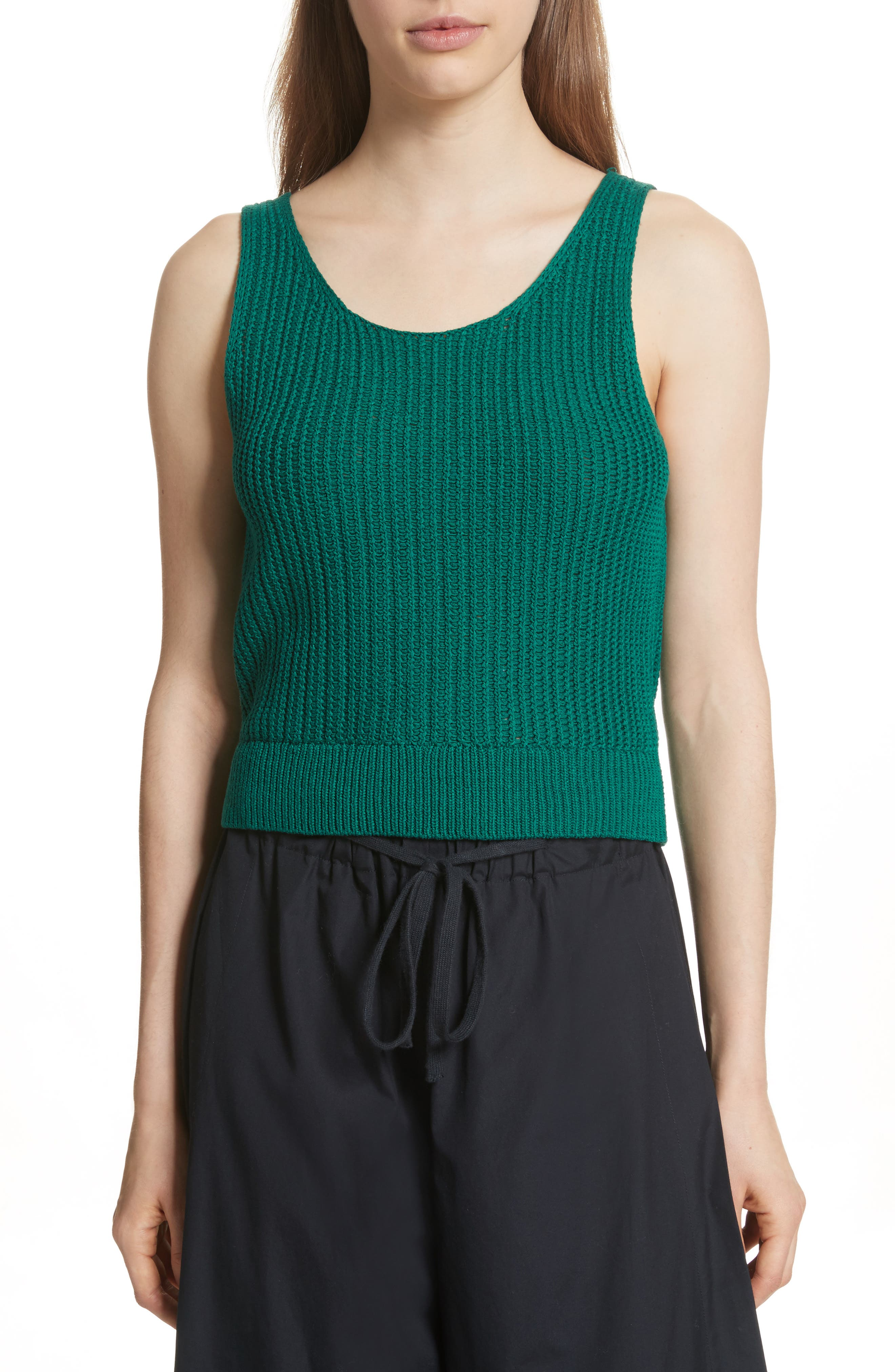 Vince Crossover Back Tank Sweater