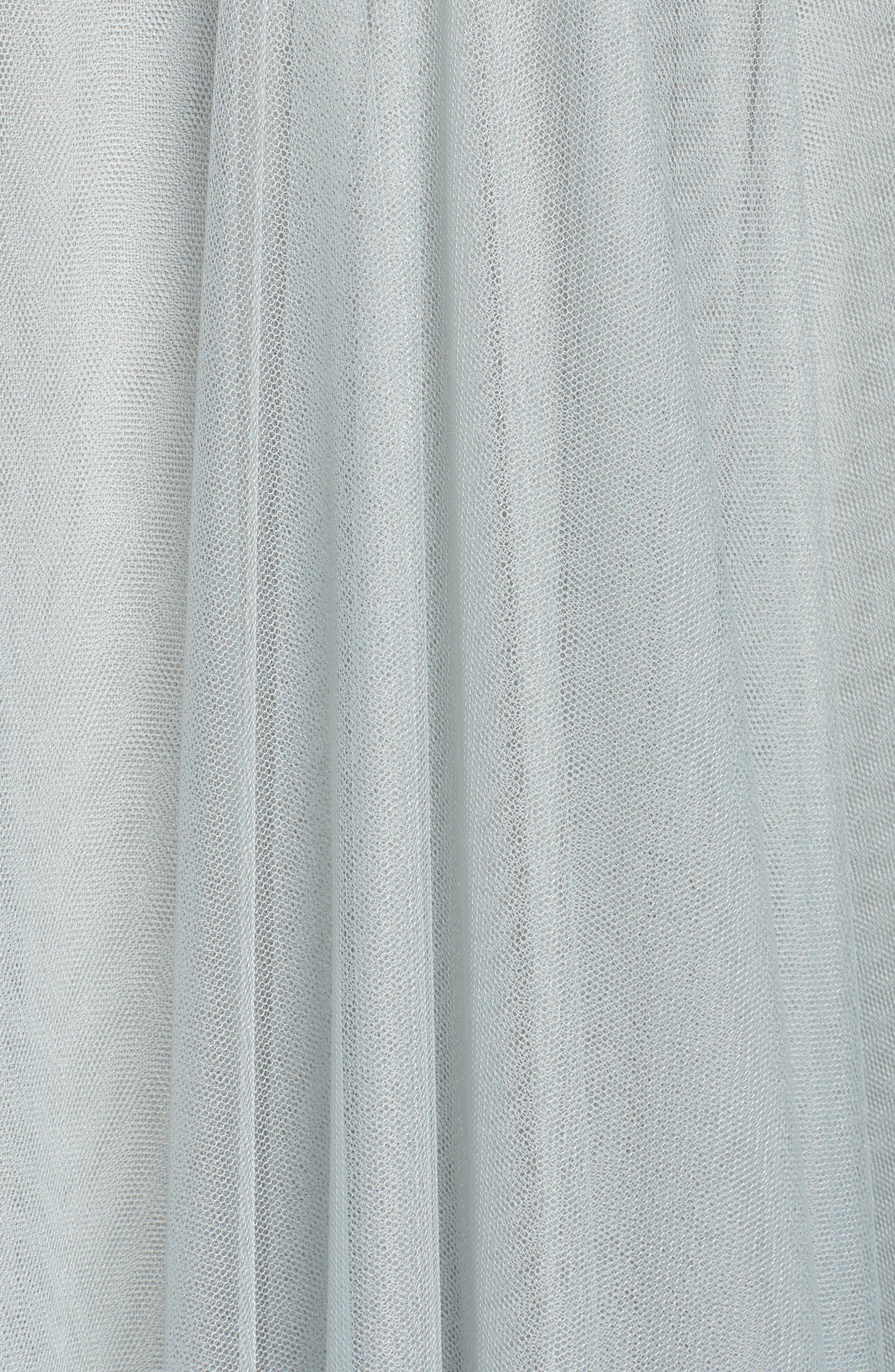 Julia Convertible Soft Tulle Gown,                             Alternate thumbnail 6, color,                             Morning Mist