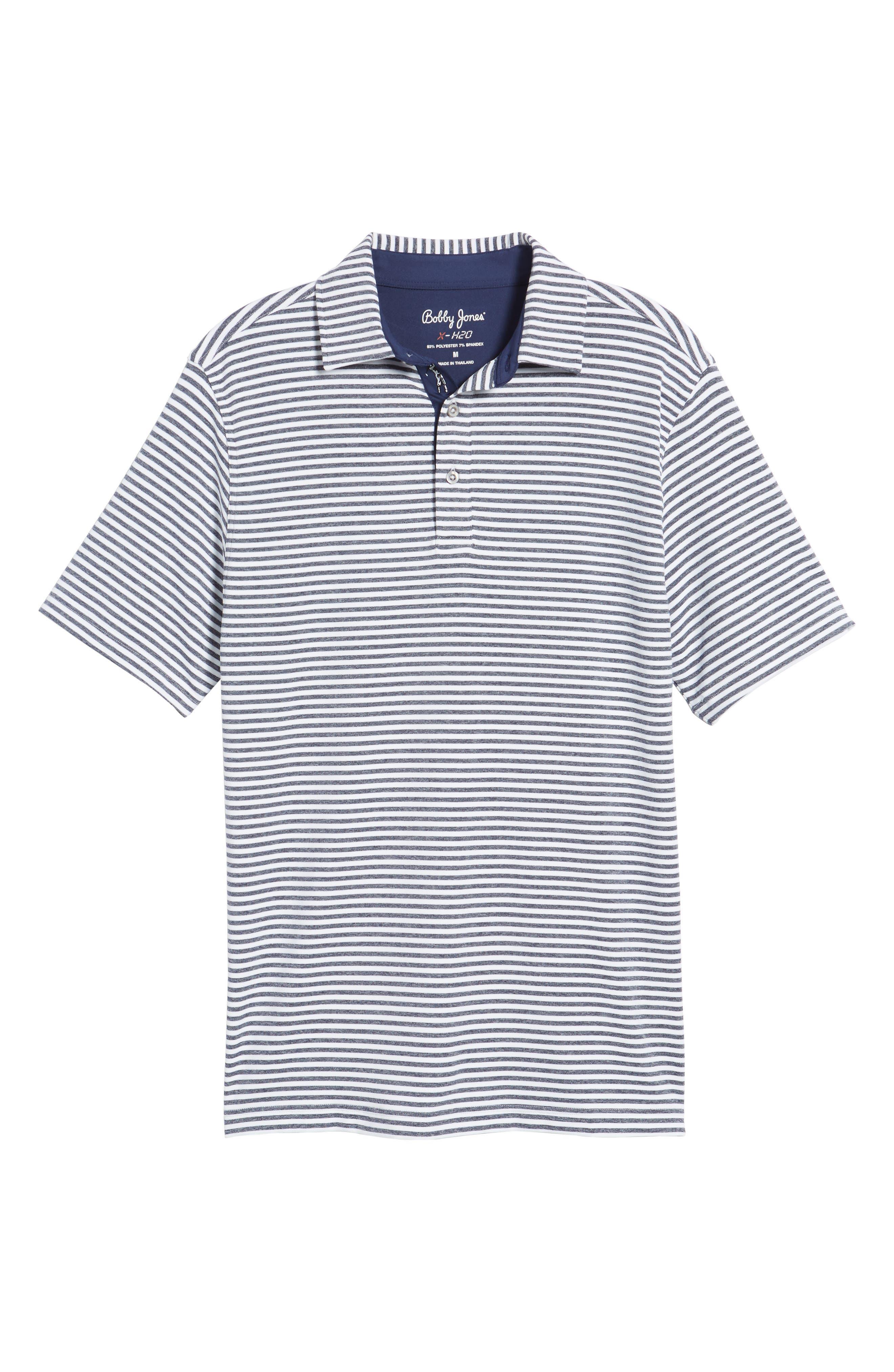 Alternate Image 6  - Bobby Jones XH2O Tranquil Stripe Jersey Polo