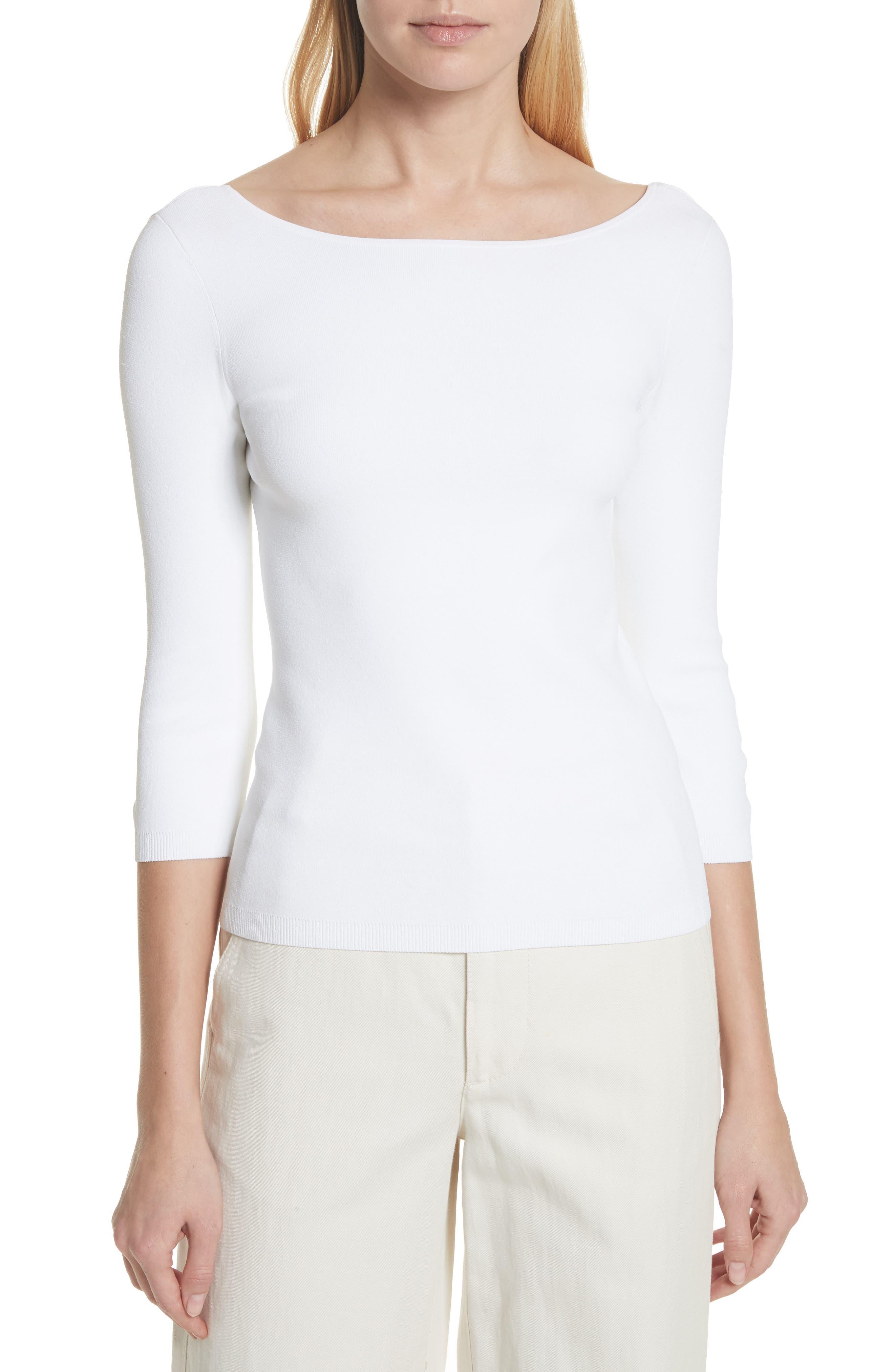 U-Back Top,                         Main,                         color, Optic White