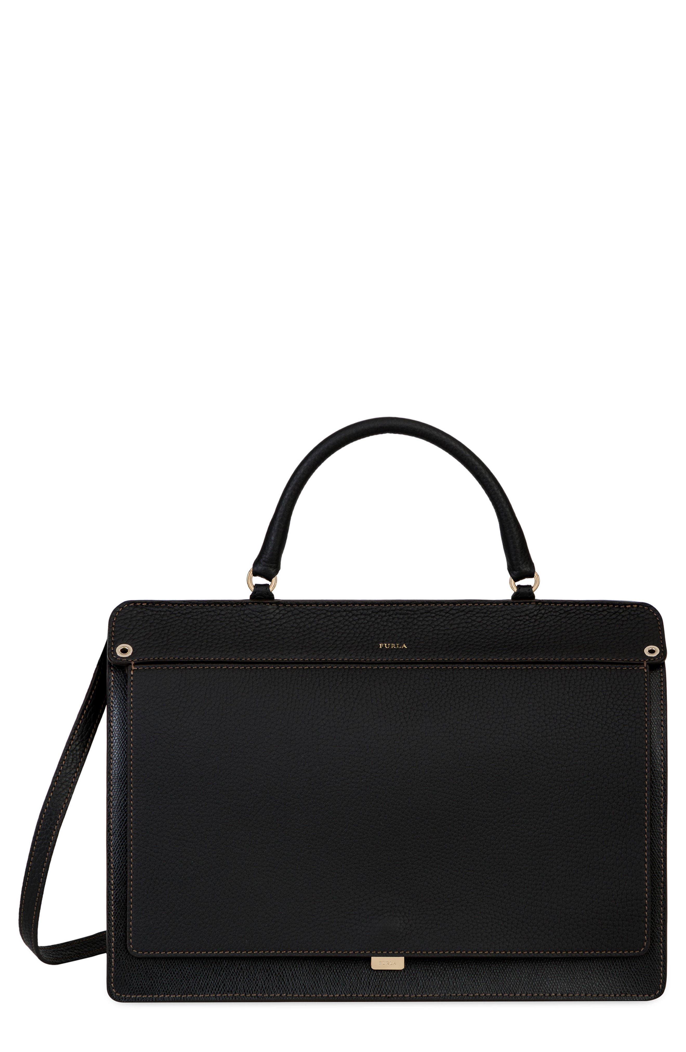 Main Image - Furla Small Like Leather Top Handle Convertible Satchel