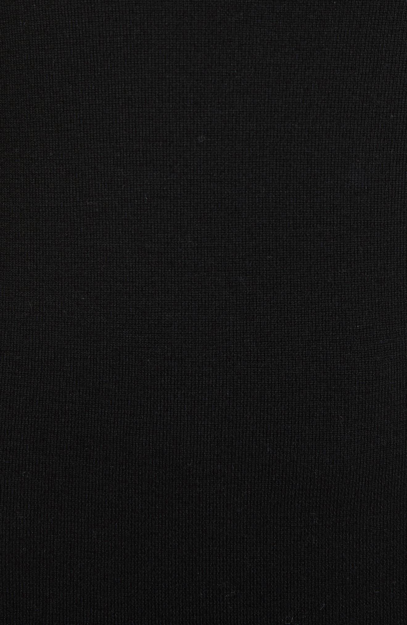 Slit Back Sweater,                             Alternate thumbnail 5, color,                             Black