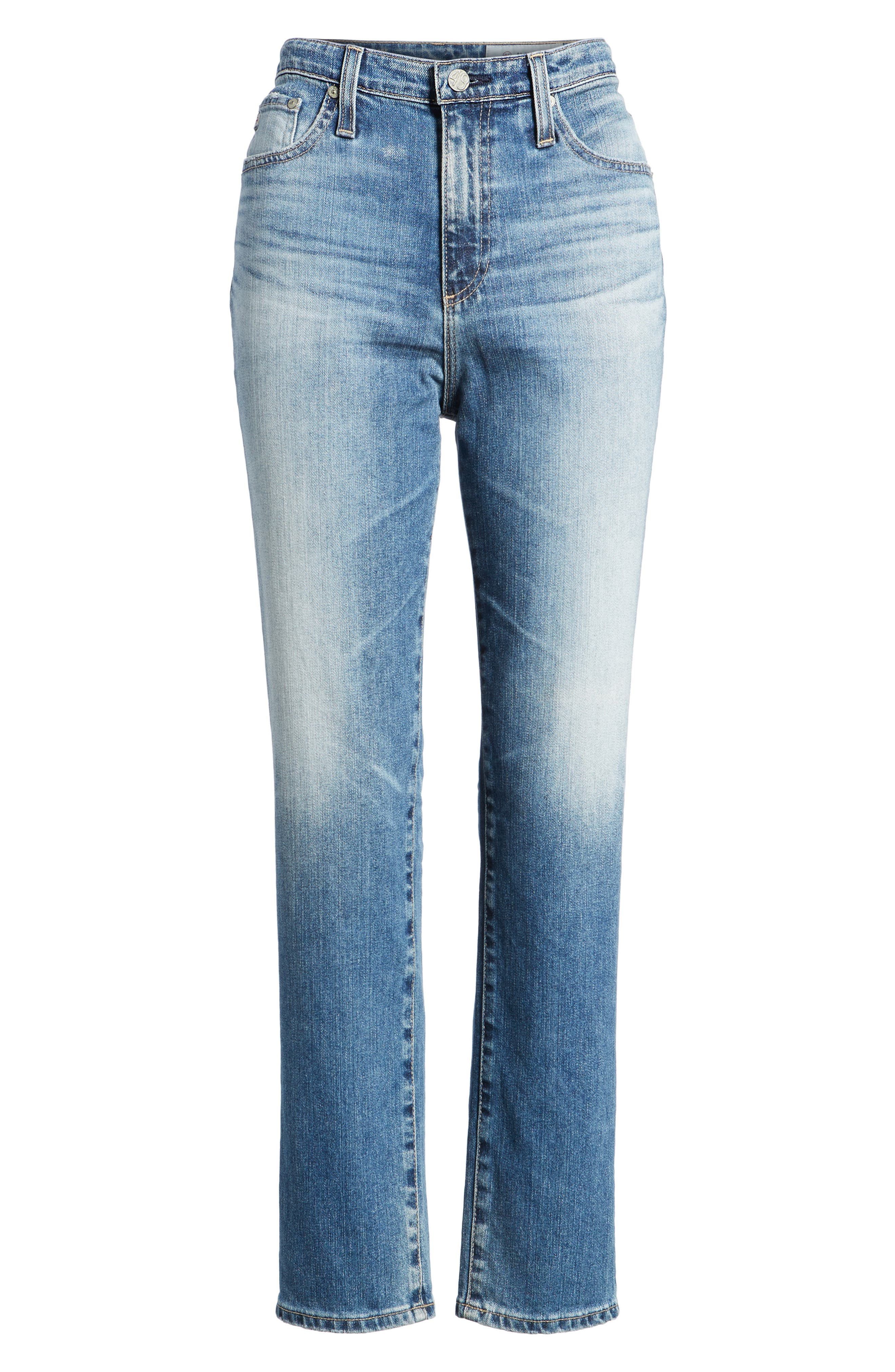 Alternate Image 6  - AG 'The Phoebe' Vintage High Rise Straight Leg Jeans (16 Years Indigo Deluge)