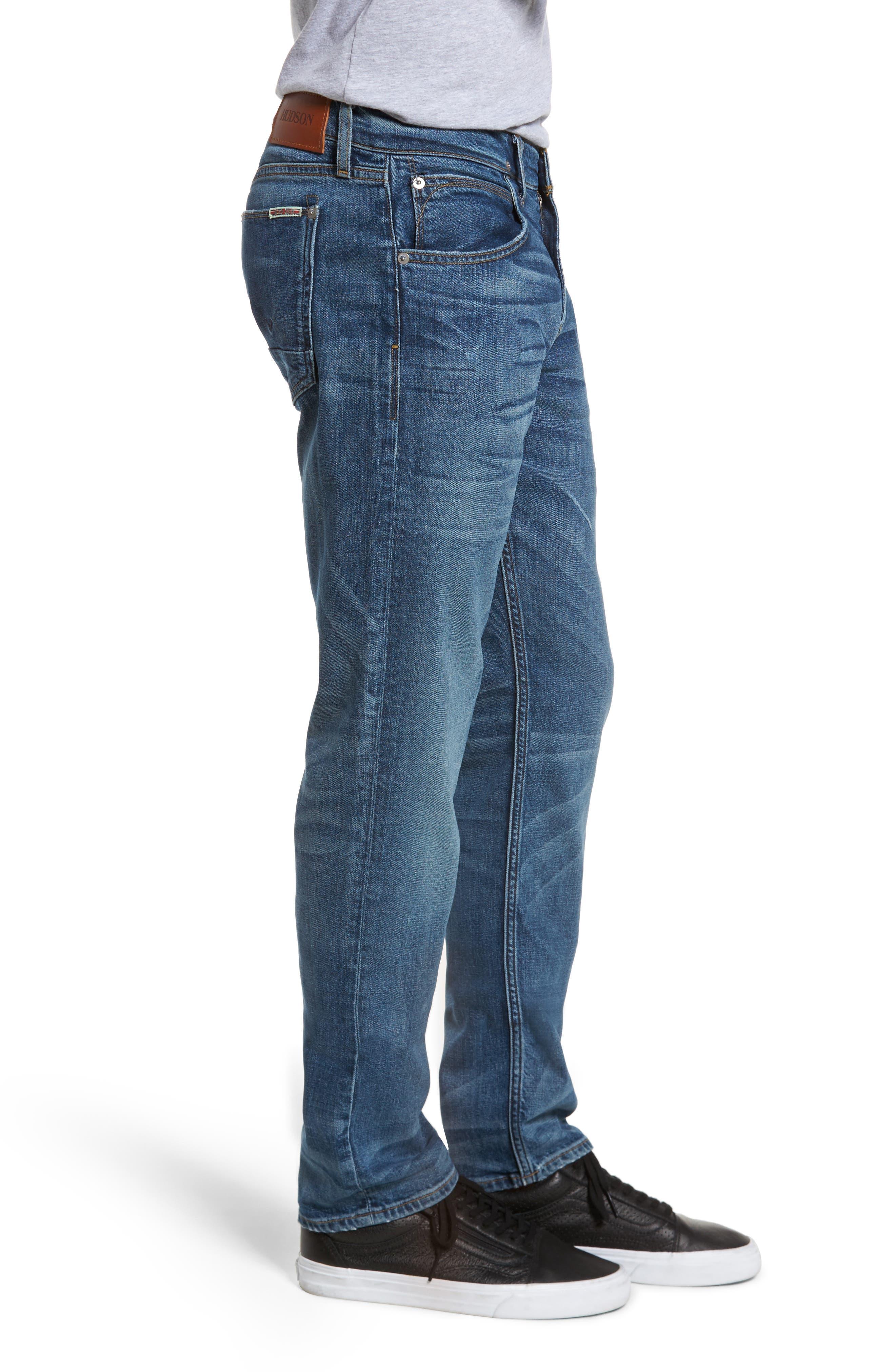 Alternate Image 3  - Hudson Jeans Byron Slim Straight Leg Jeans (Graph)