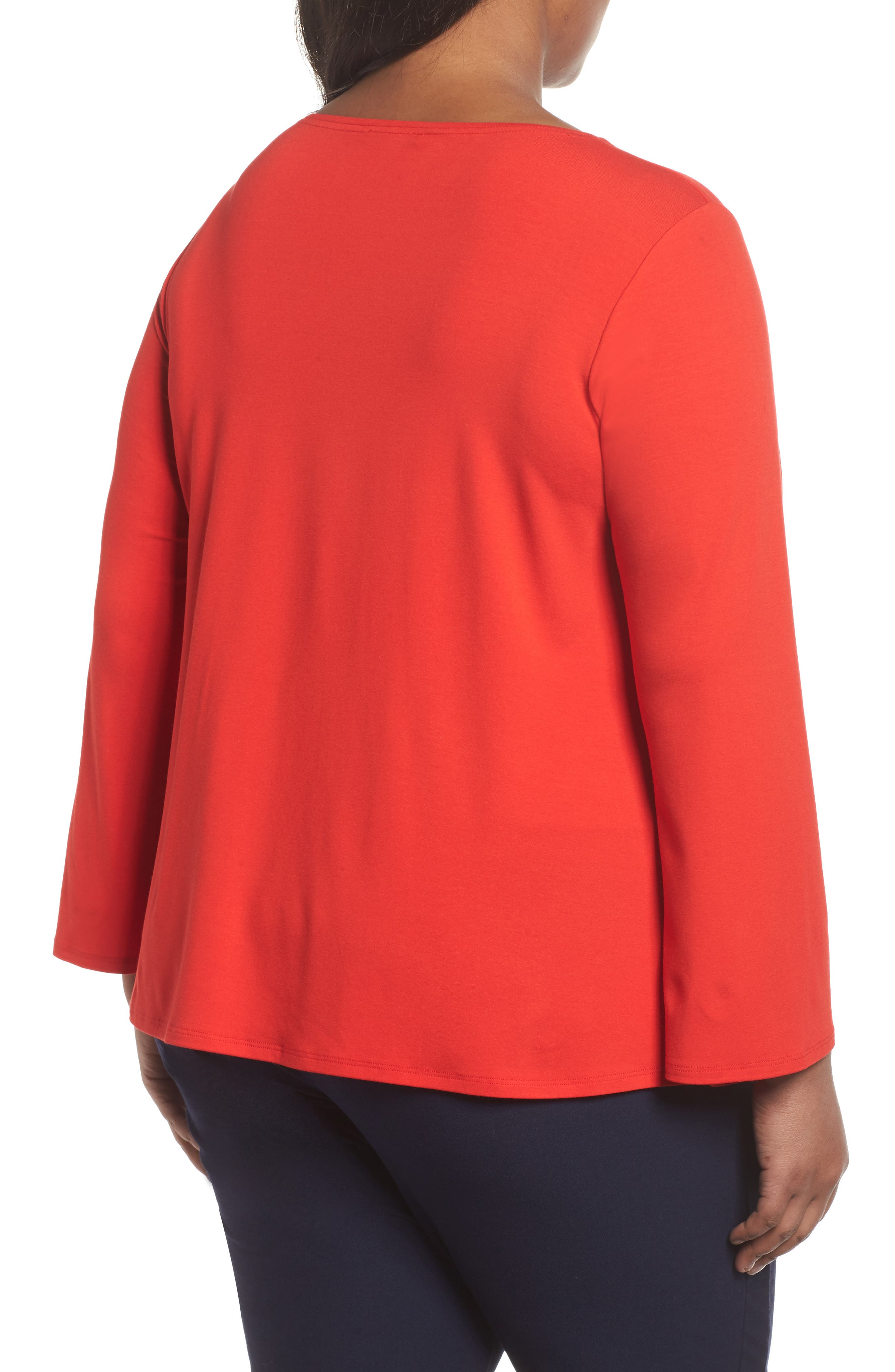 Alternate Image 2  - Eileen Fisher Jersey Ballet Neck Top (Plus Size)