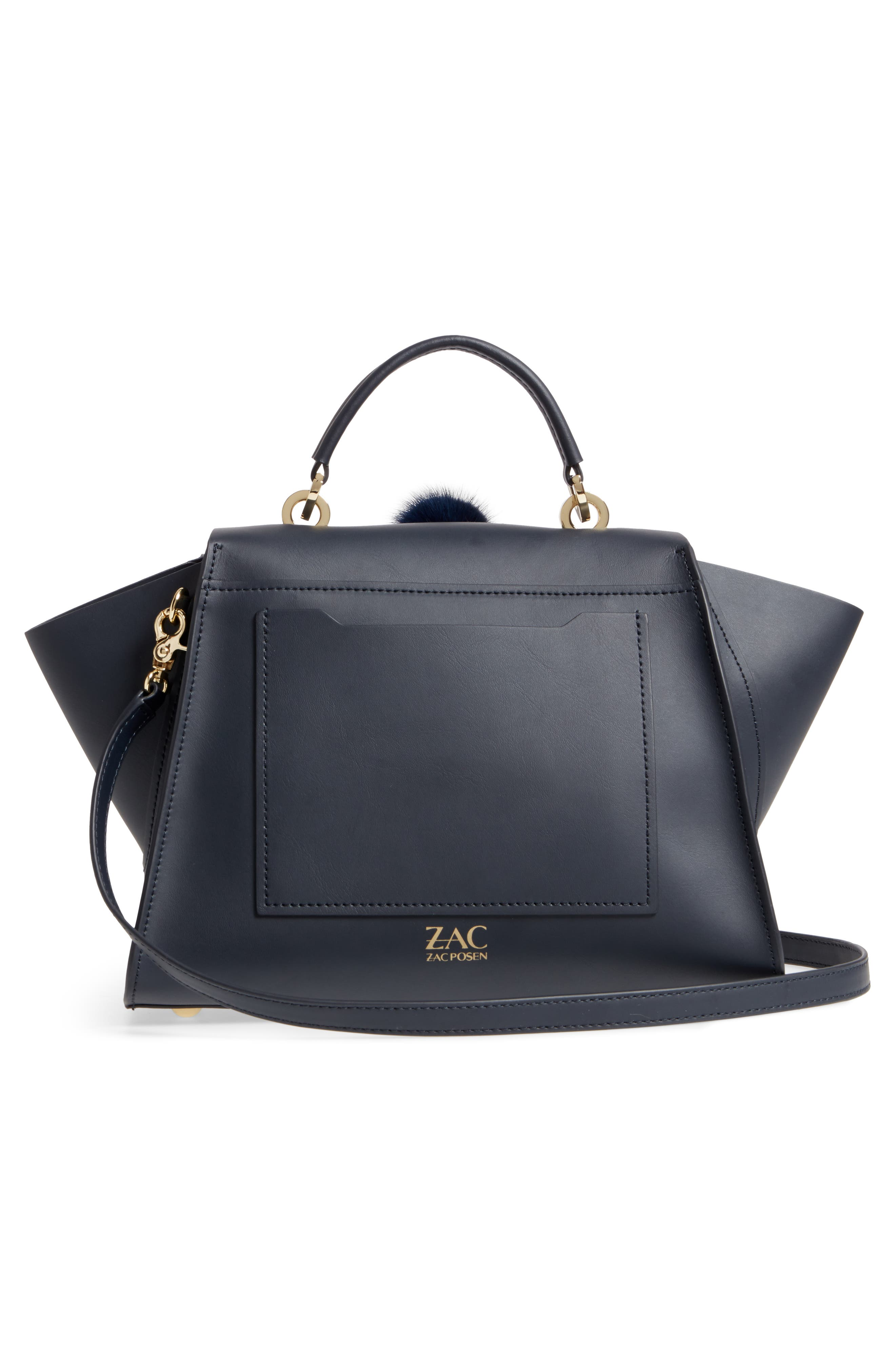 Alternate Image 3  - ZAC Zac Posen Eartha Iconic Leather & Genuine Mink Fur Satchel