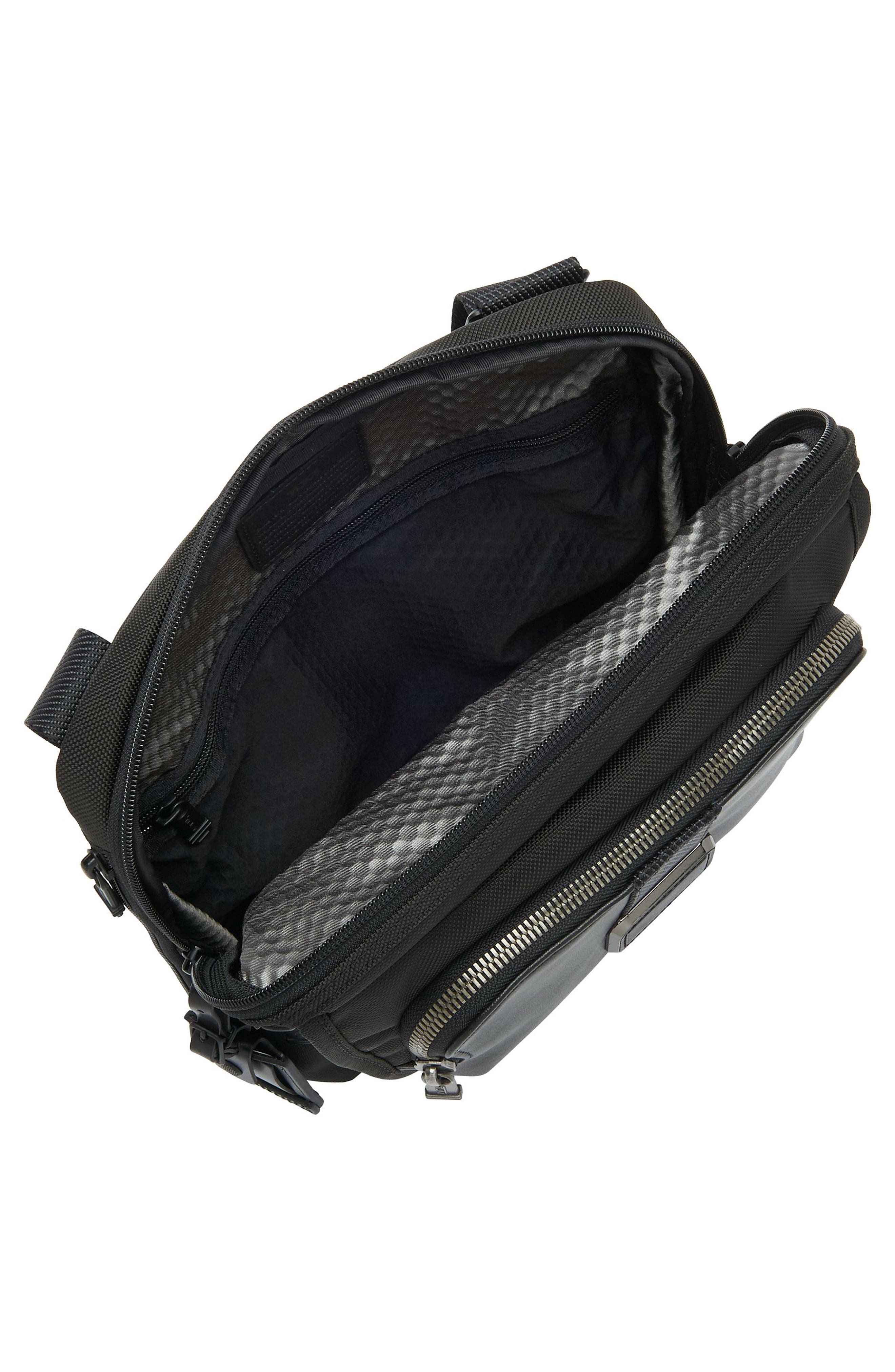 Alpha Bravo - Arnold Messenger Bag,                             Alternate thumbnail 4, color,                             Black