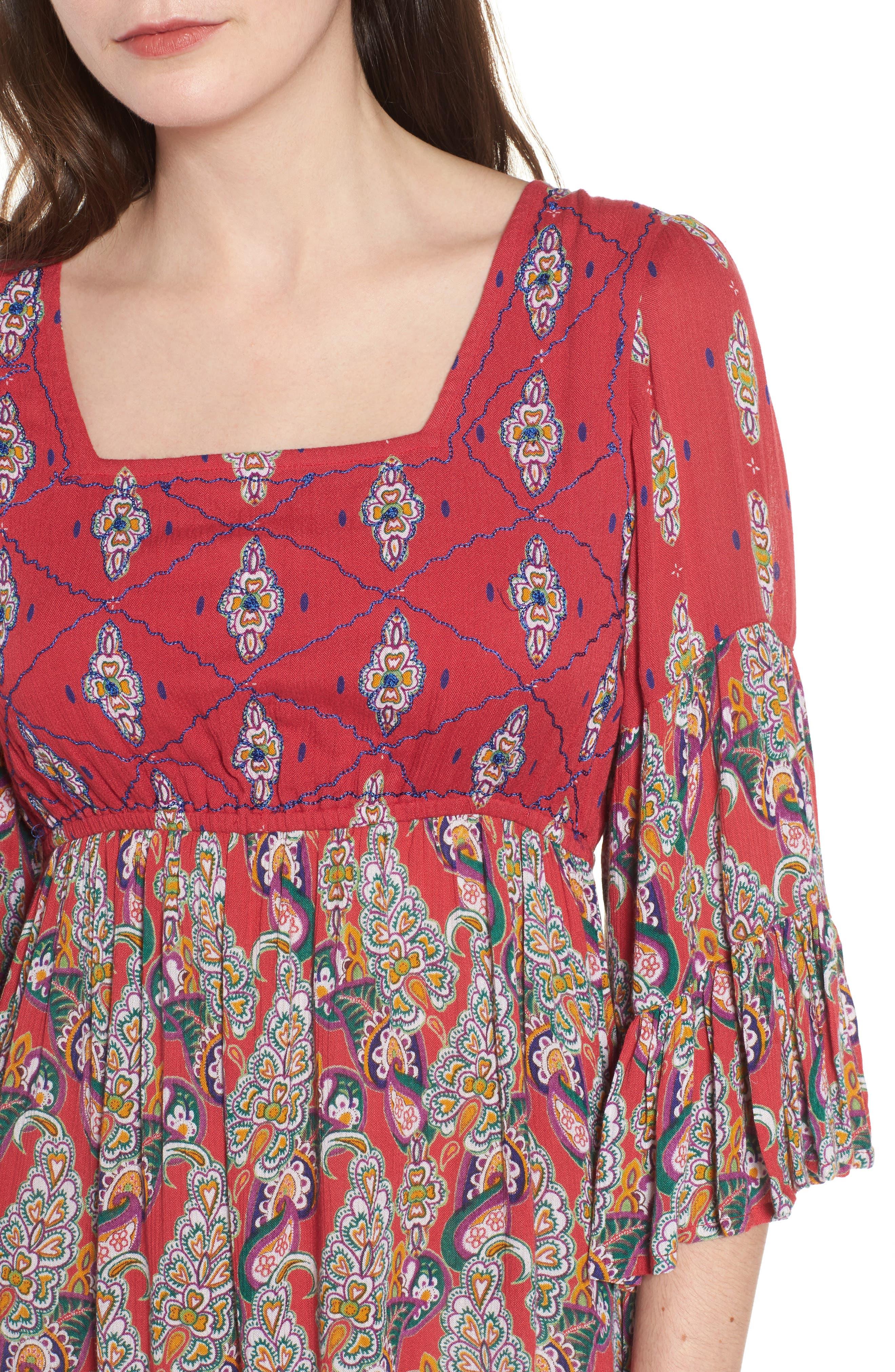 Alternate Image 4  - Raga Alice Bell Sleeve Babydoll Dress