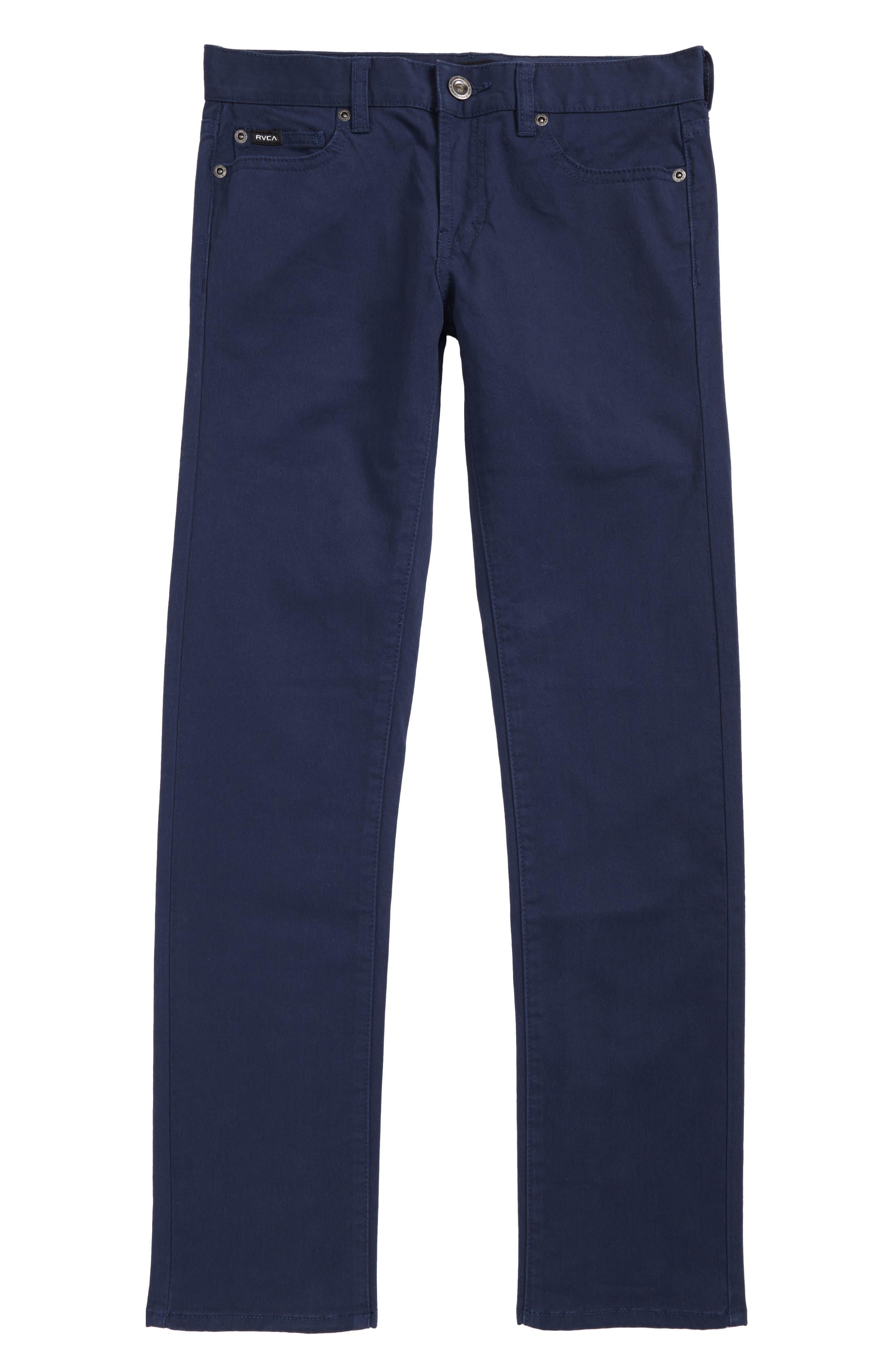 RVCA 'Daggers' Slim Fit Twill Pants (Big Boys)