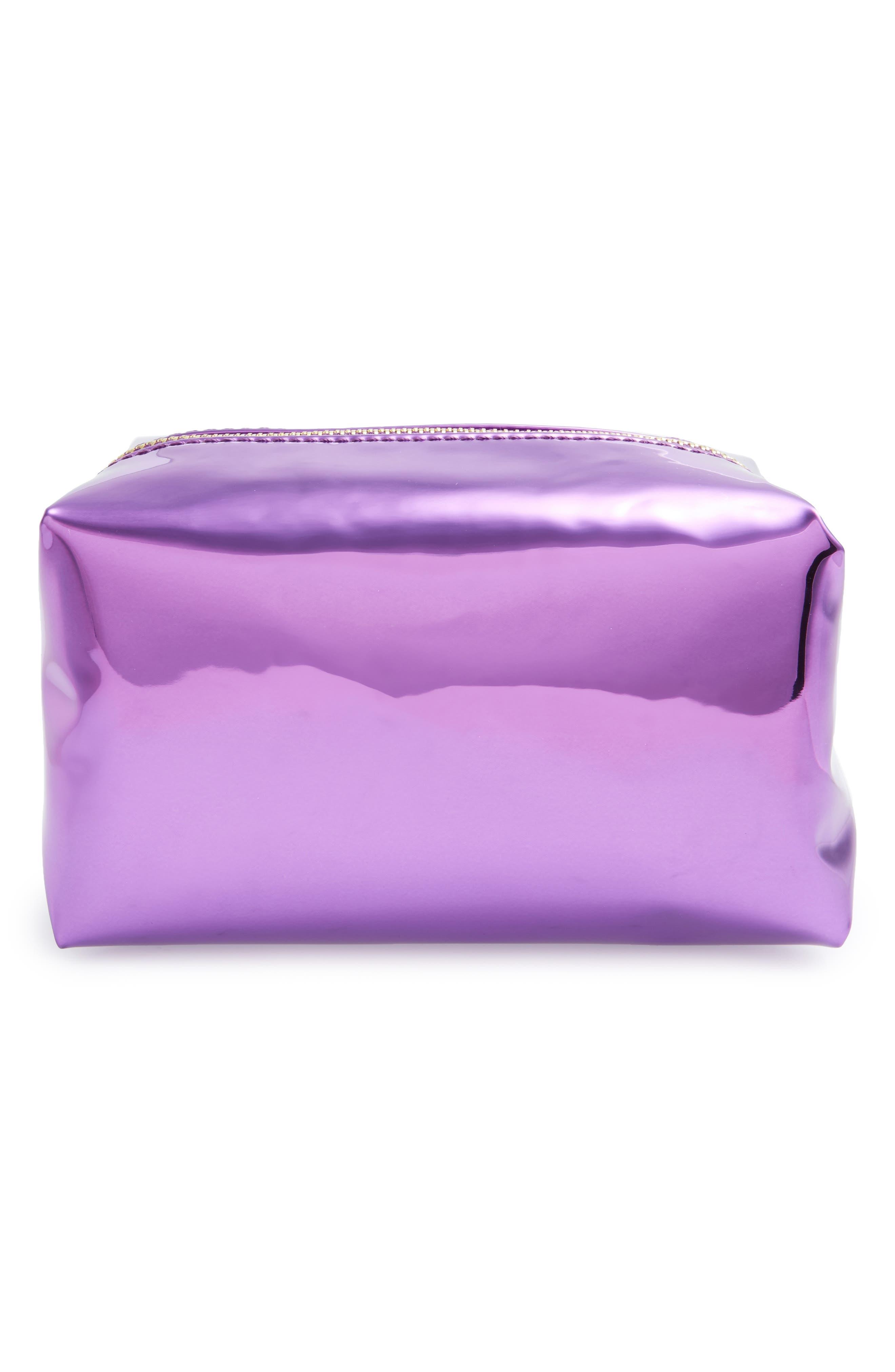 Alternate Image 1 Selected - Yoki Bags Metallic Cosmetics Bag