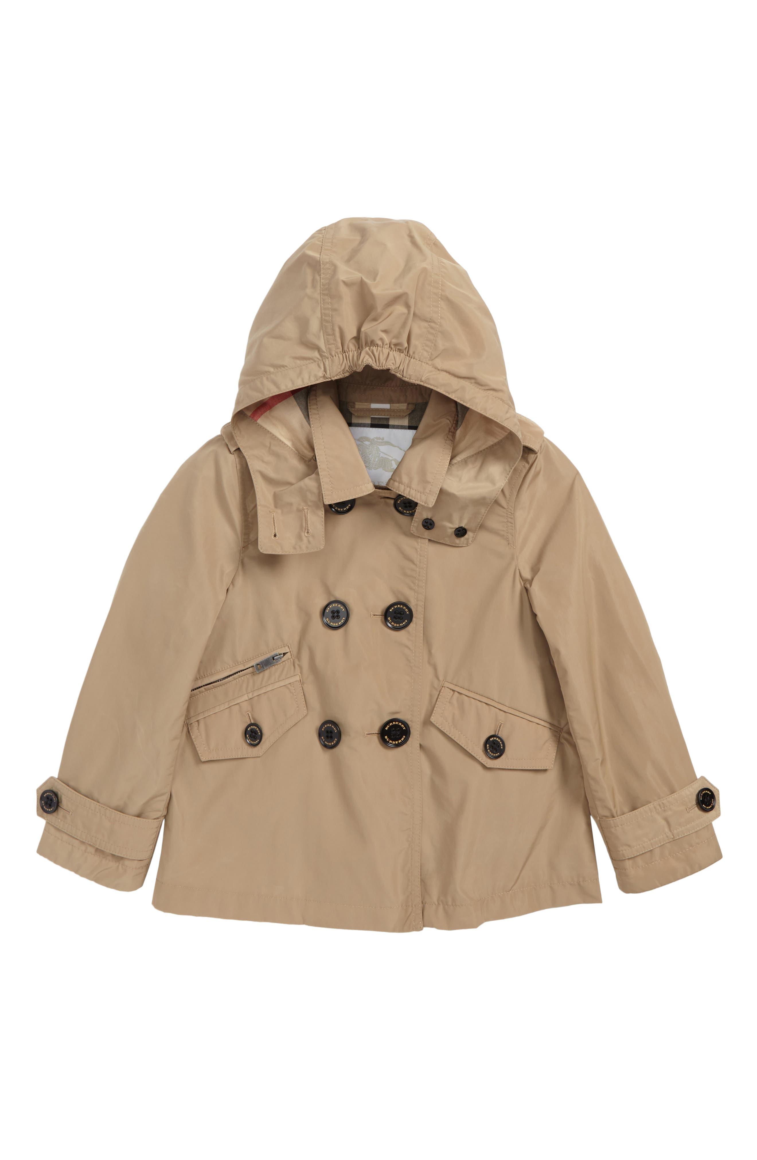 Main Image - Burberry Margeretta Hooded Jacket (Little Girls & Big Girls)