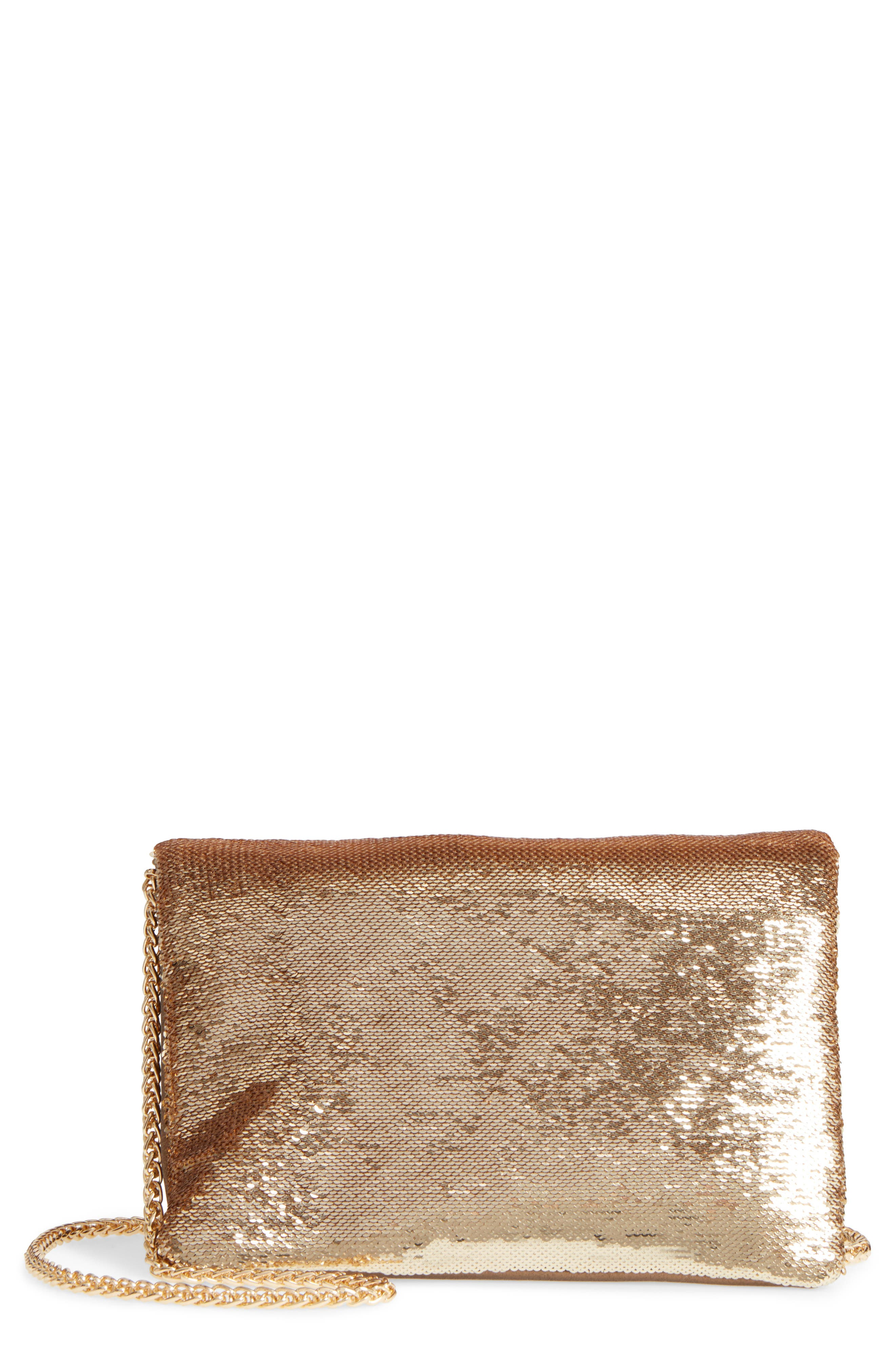 Main Image - Street Level Sequin Clutch