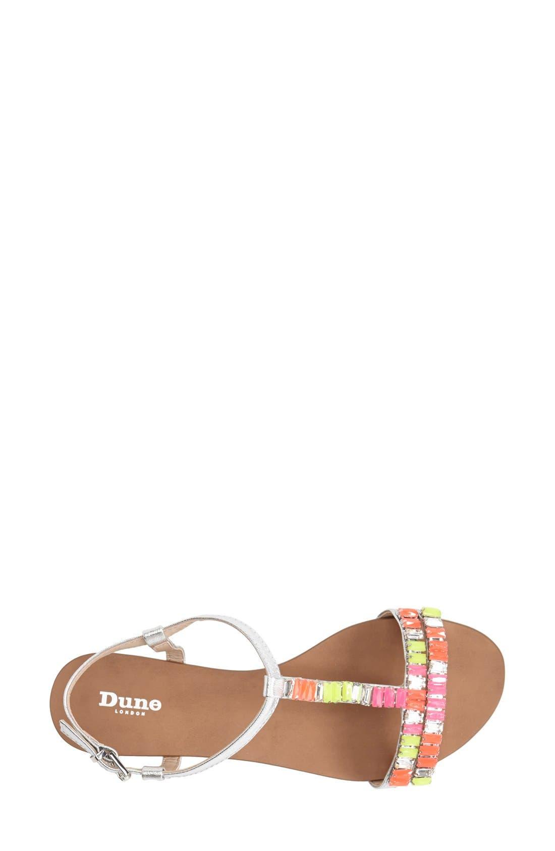 Alternate Image 4  - Dune London 'Nimbo' Beaded T-Strap Flat Sandal (Women)