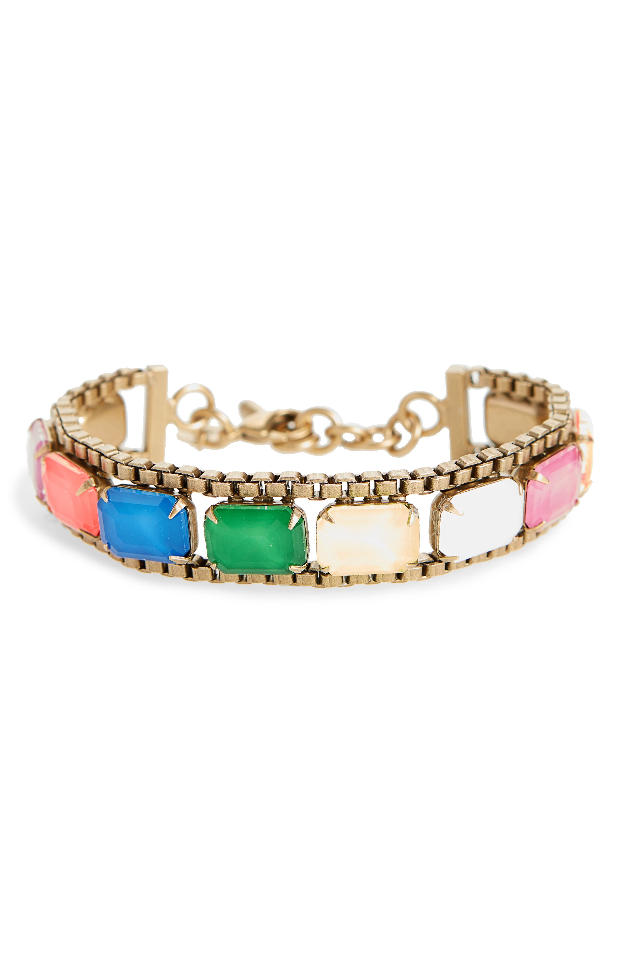 Loren Hope Scarlet Mixed Jewel Bracelet