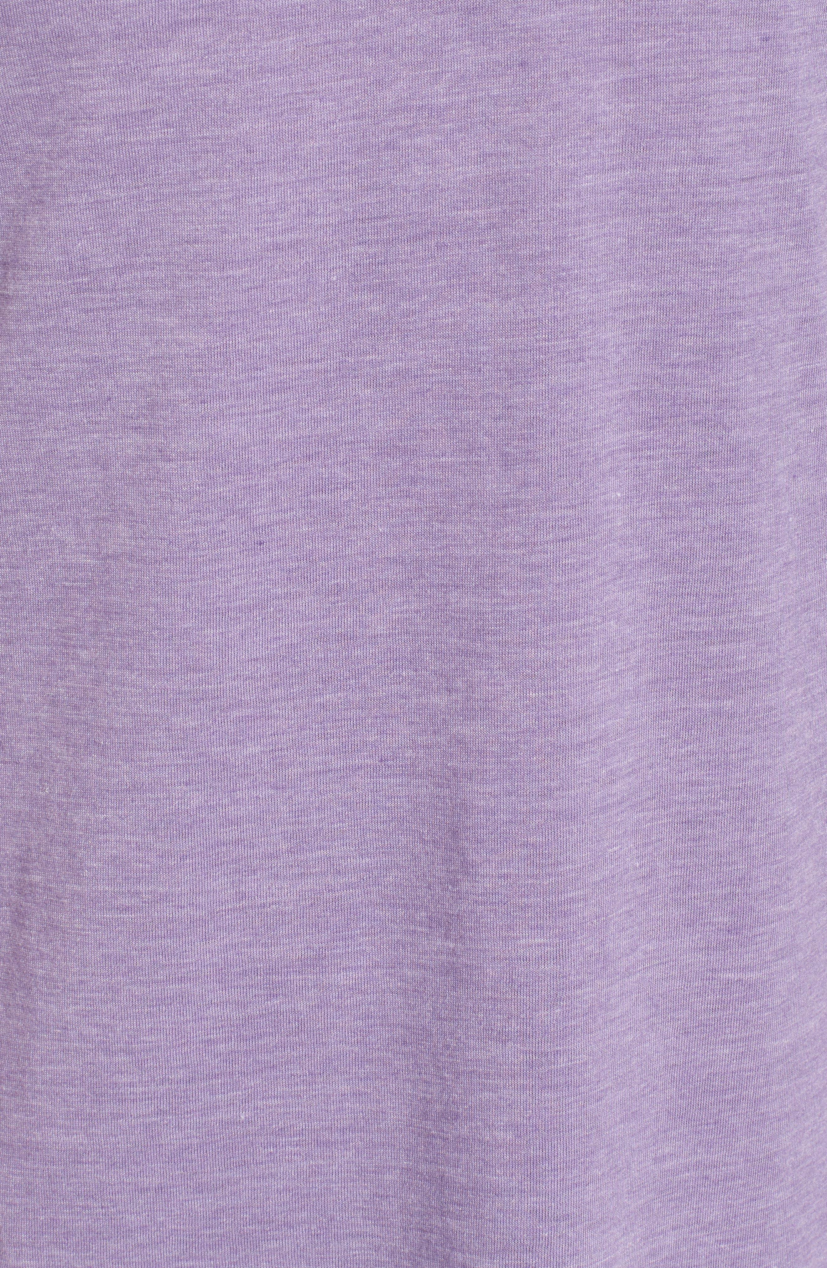 Scallop Triblend Crewneck T-Shirt,                             Alternate thumbnail 5, color,                             Purple Haze