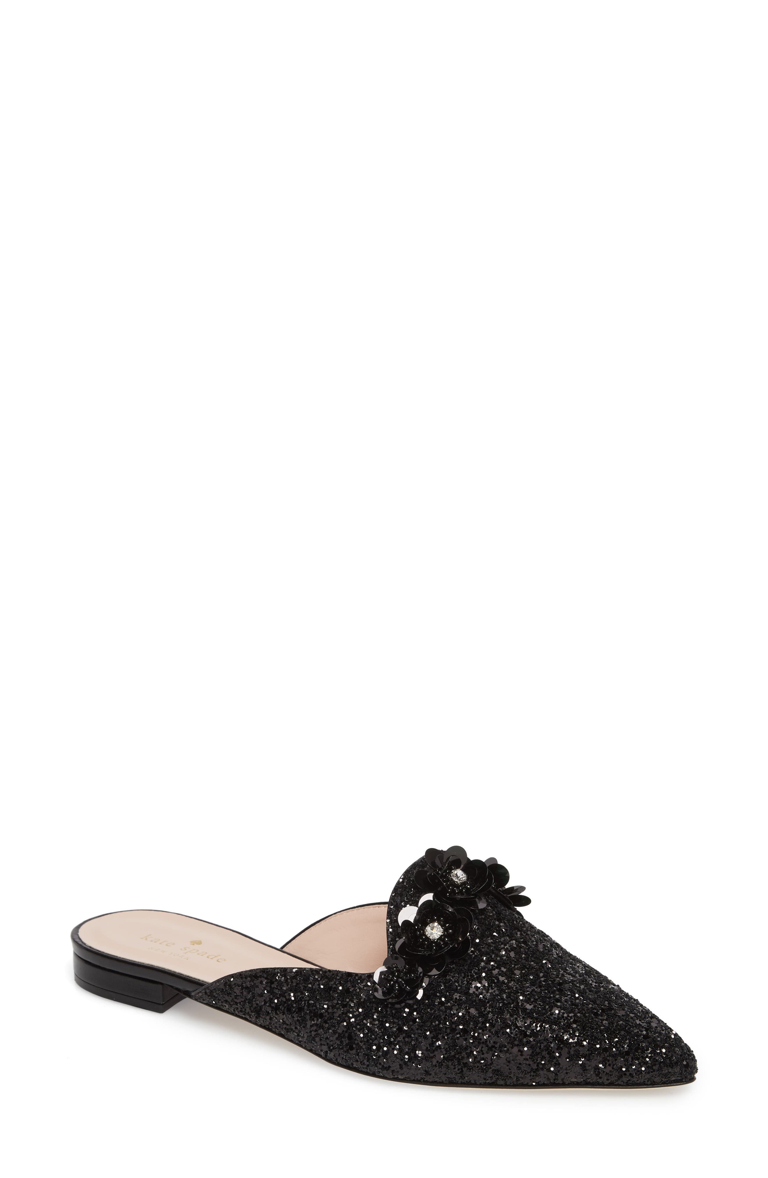 betty mule,                         Main,                         color, Black Glitter