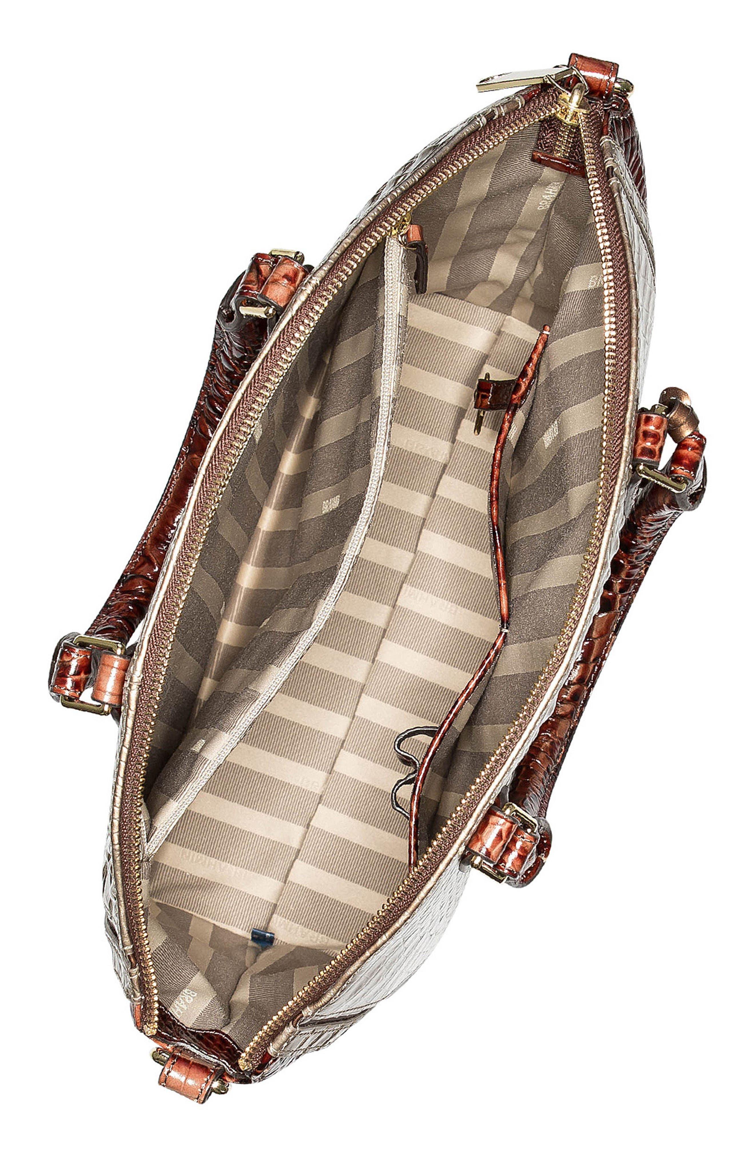 Alternate Image 3  - Brahmin Large Duxbury Croc Embossed Leather Satchel