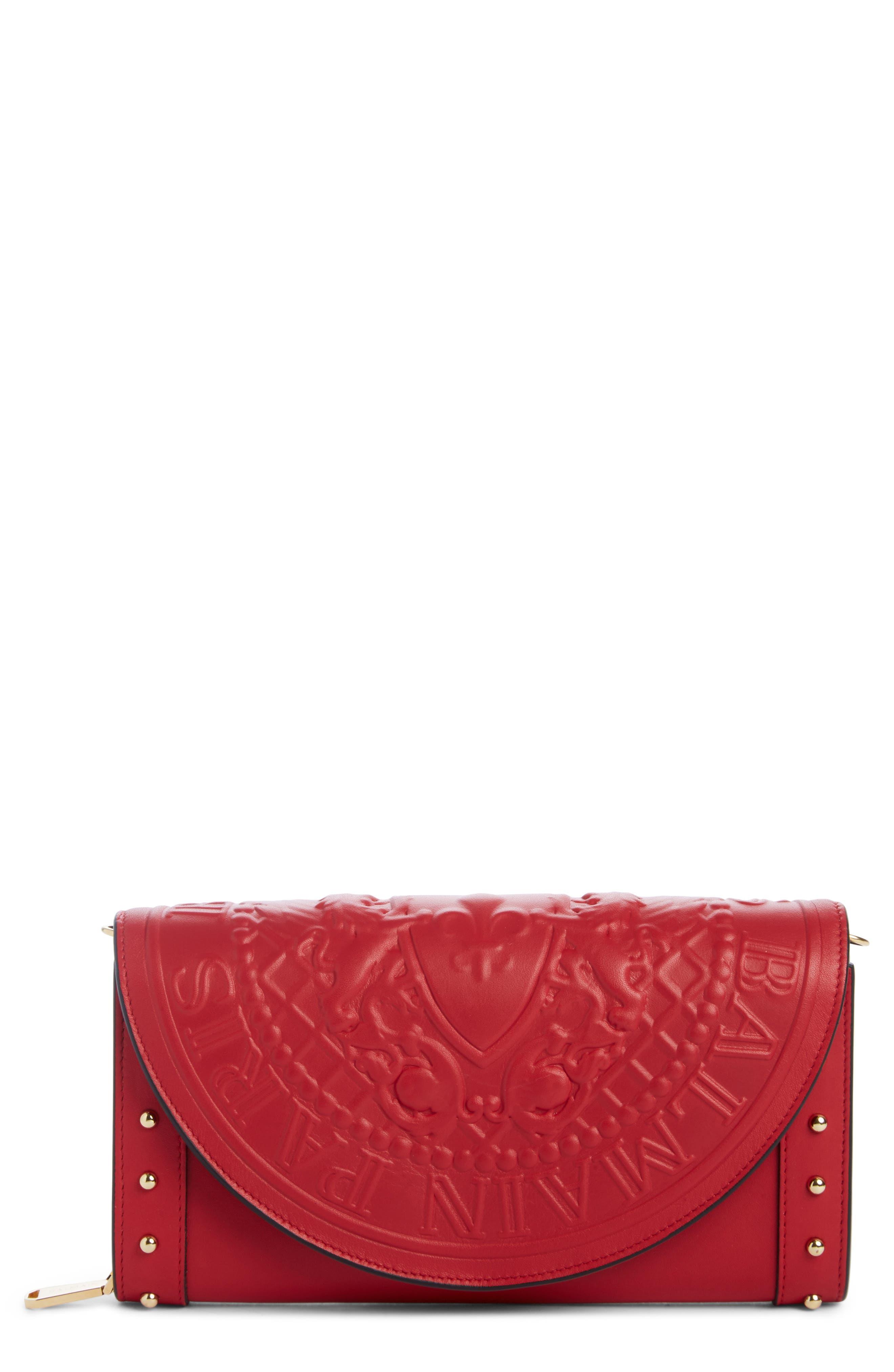 Main Image - Balmain Renaissance Leather Wallet on a Chain