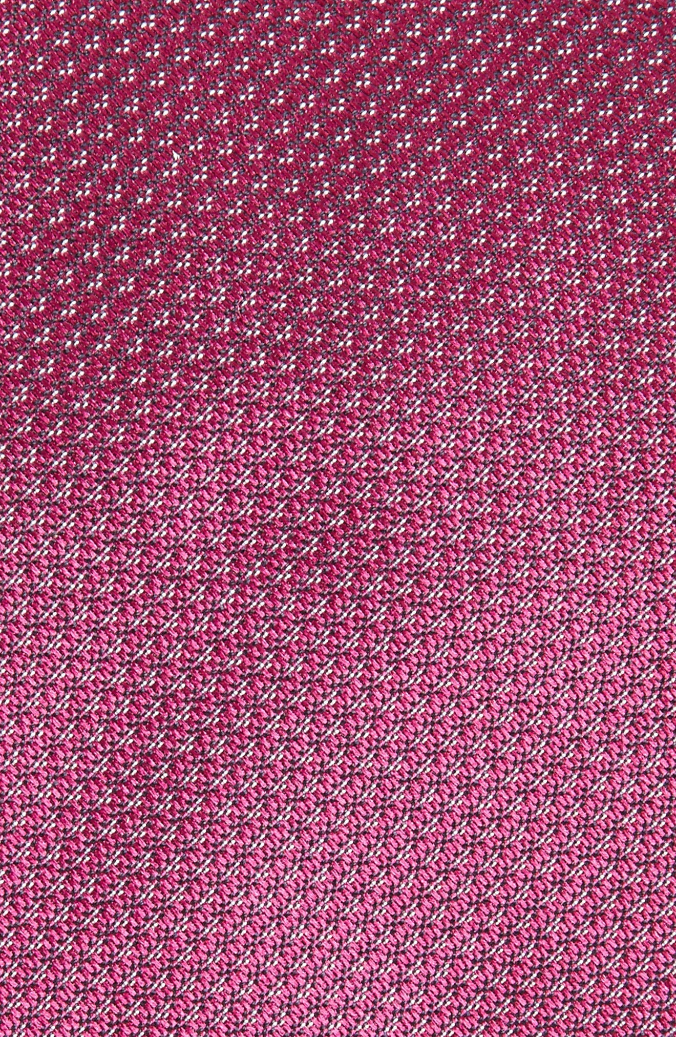 Textured Silk Tie,                             Alternate thumbnail 2, color,                             Berry