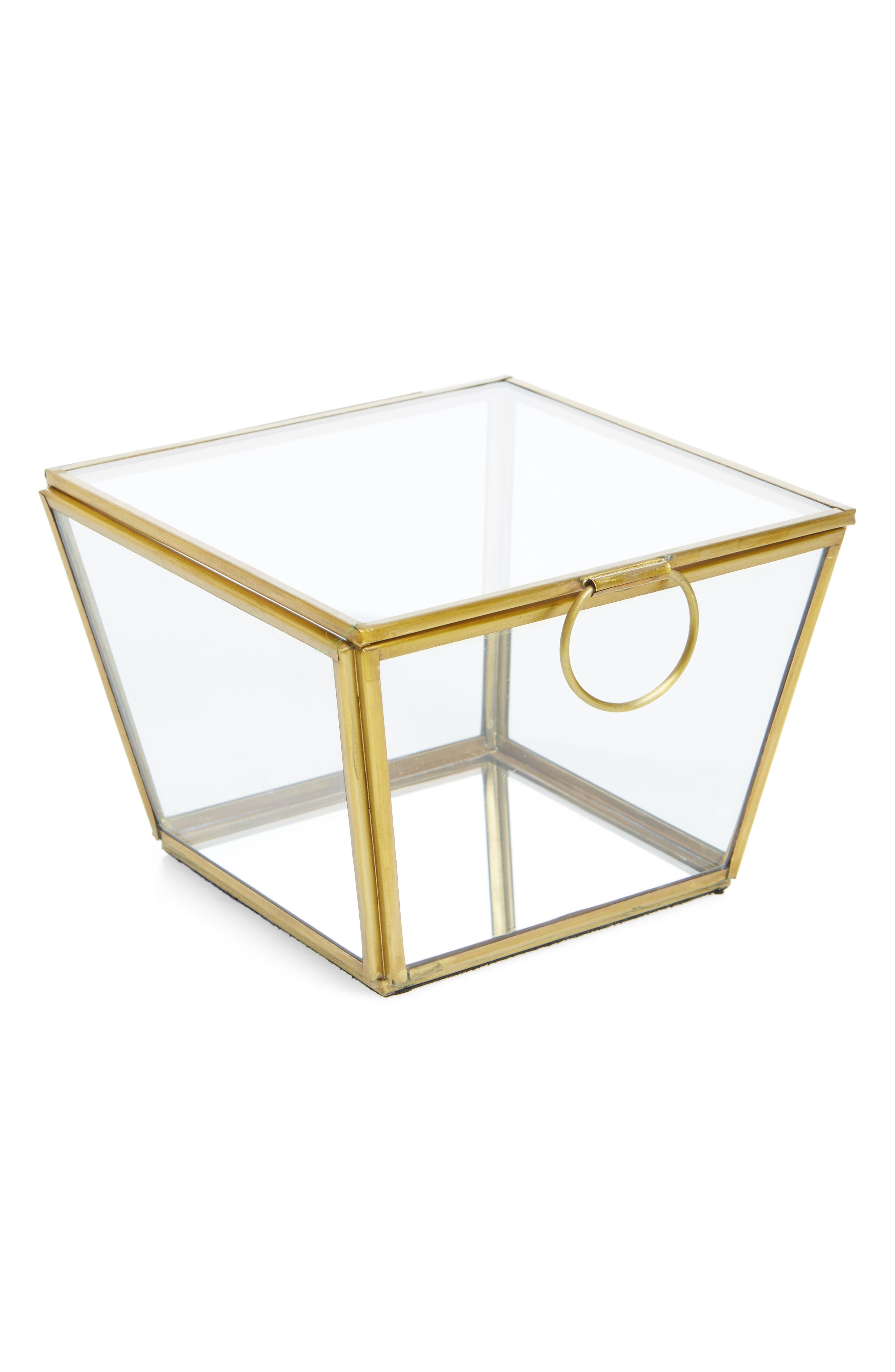 Large Wallace Trinket Box,                         Main,                         color, Gold