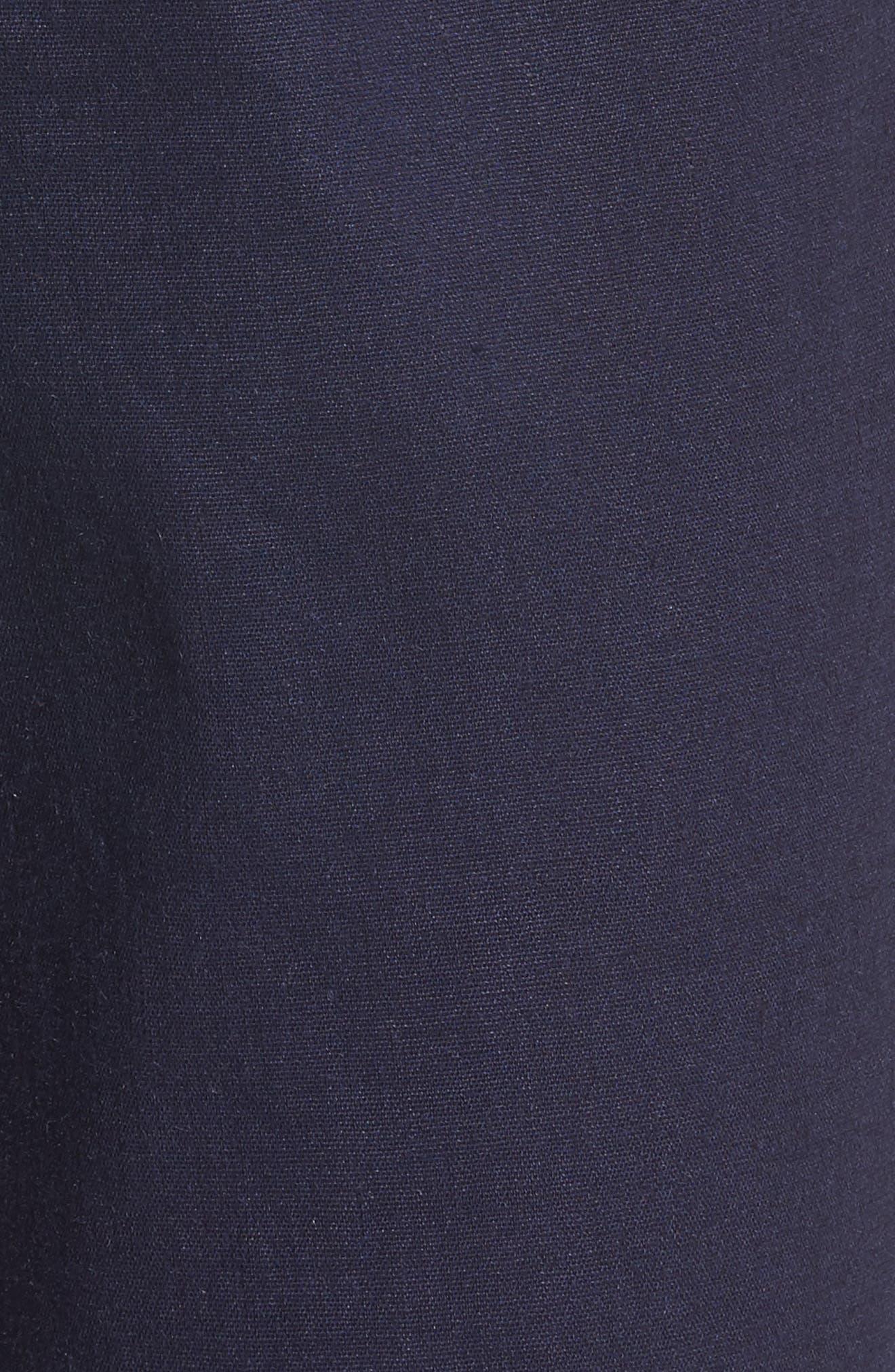 Pleat Front Crop Pants,                             Alternate thumbnail 6, color,                             Navy Evening