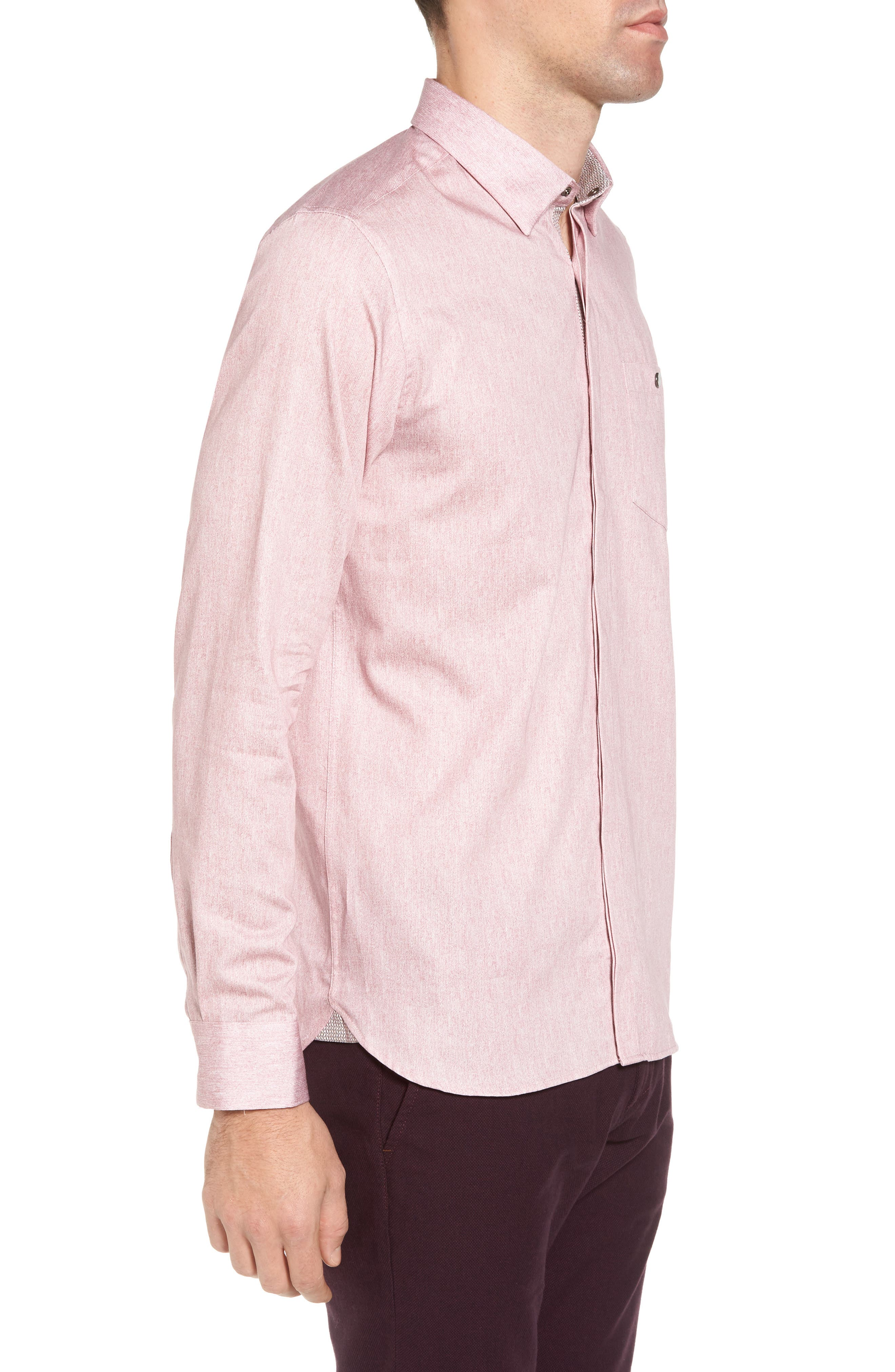 Alternate Image 3  - Ted Baker London Lili Slim Fit Herringbone Sport Shirt