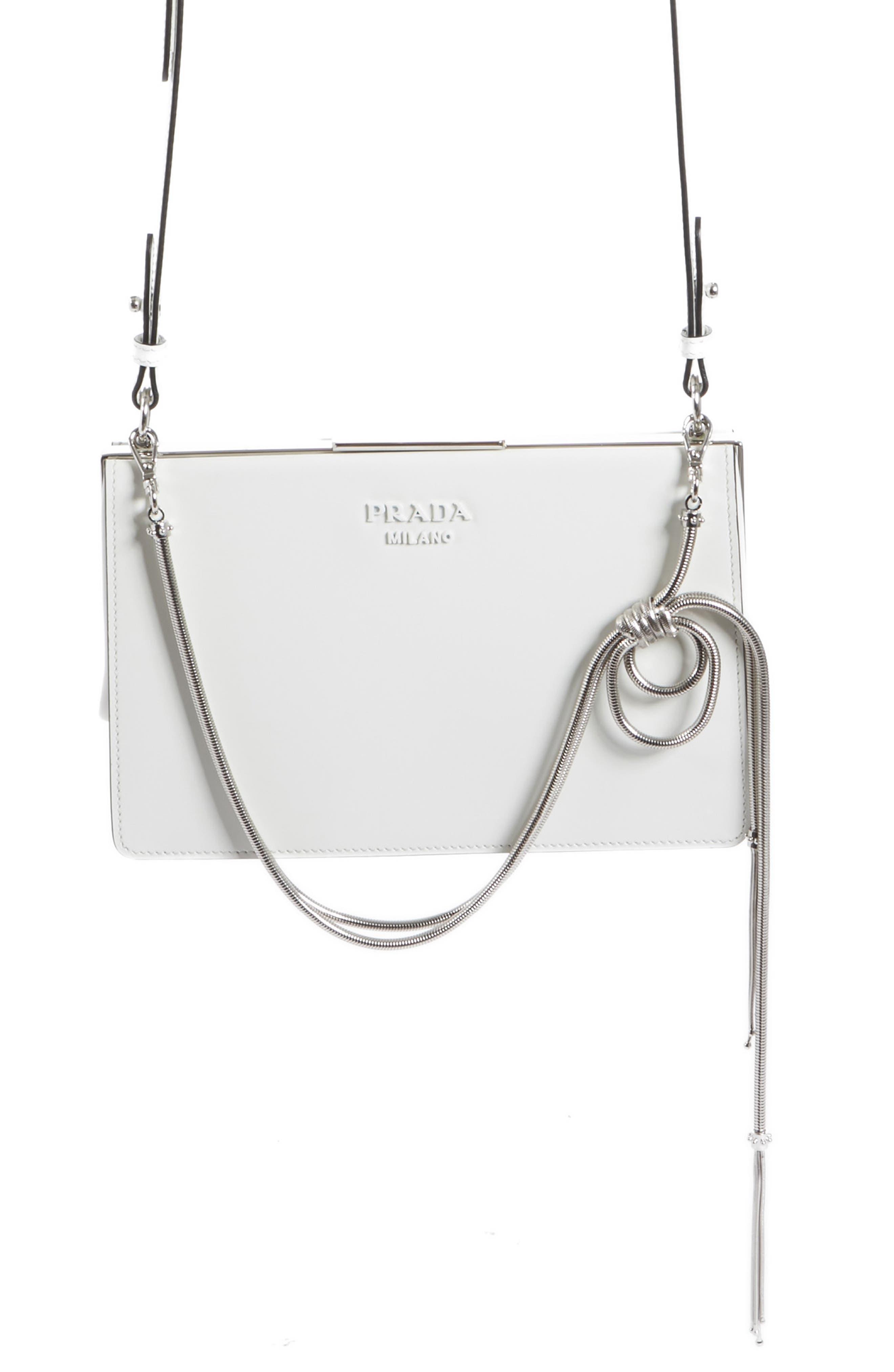 Prada Spazzolato Calfskin Crossbody Bag