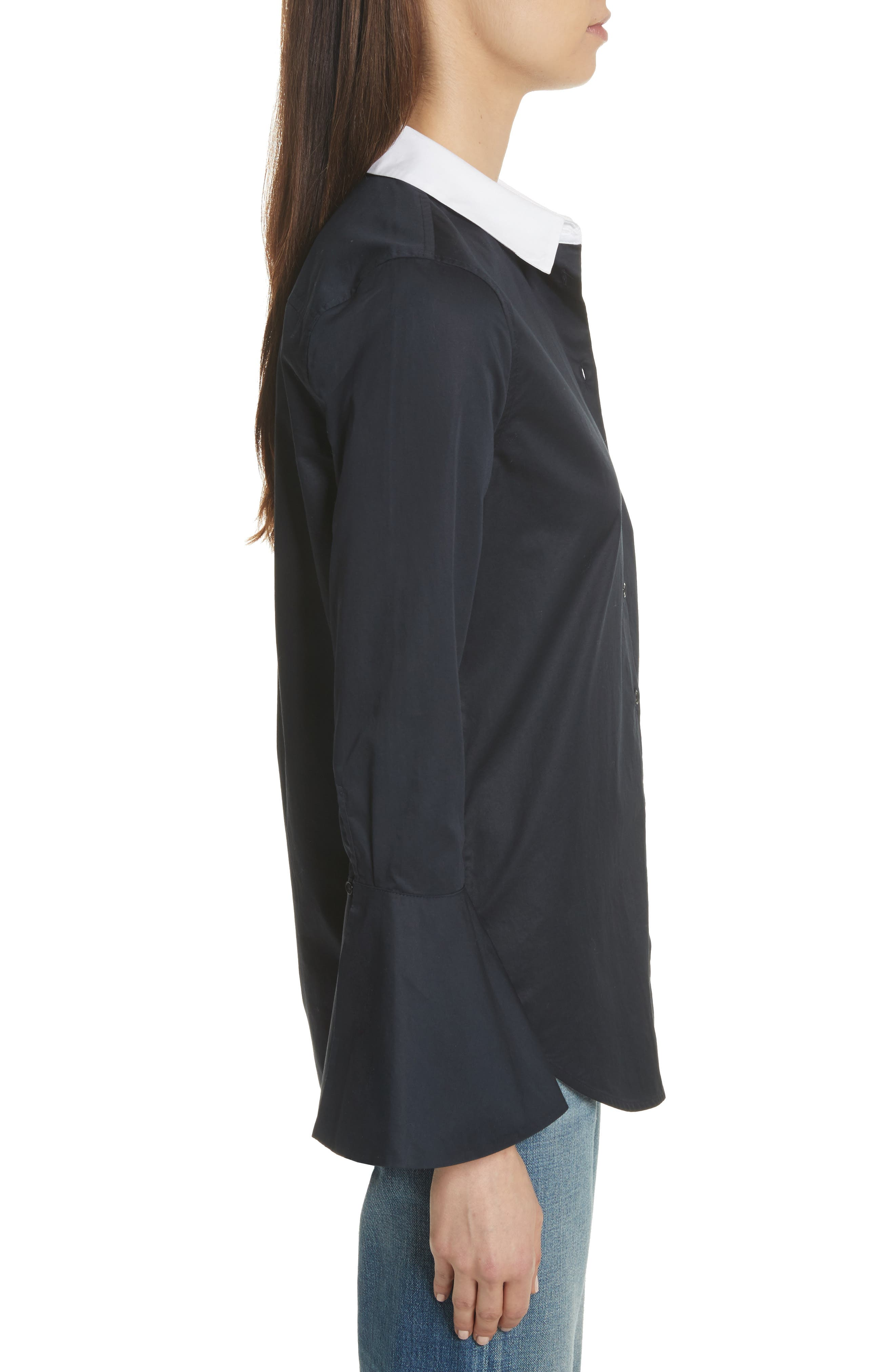 Darla Bell Cuff Shirt,                             Alternate thumbnail 3, color,                             Eclipse