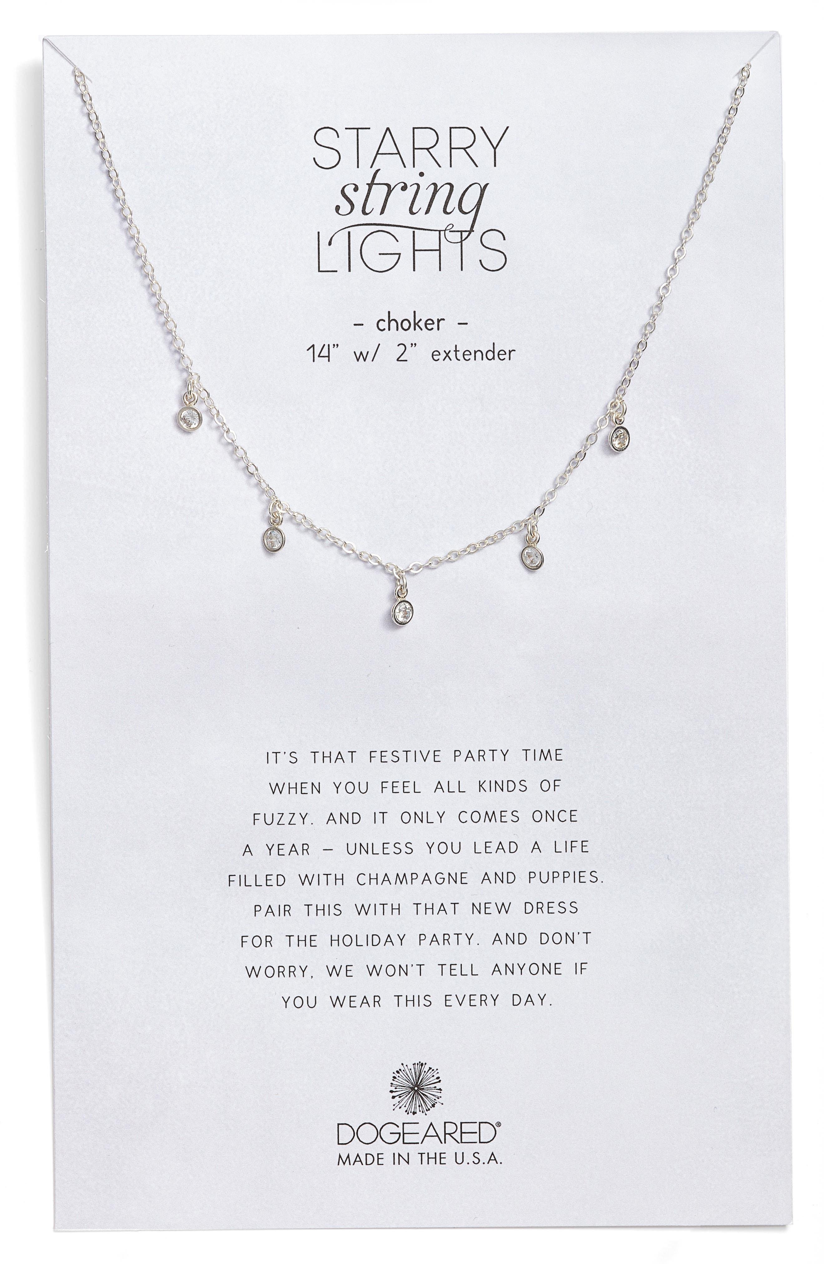 Alternate Image 1 Selected - Dogeared Starry String Lights Choker Necklace