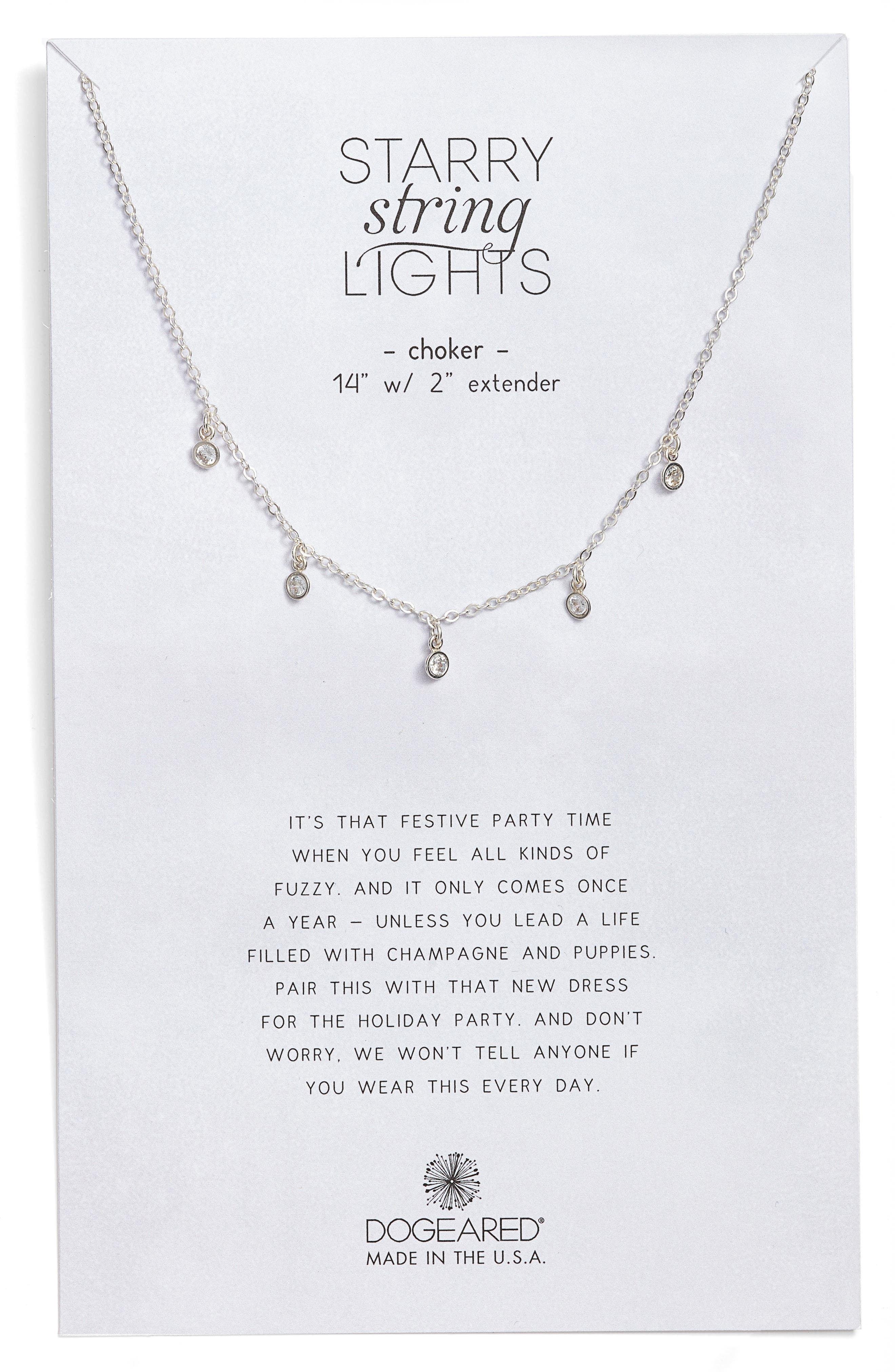 Main Image - Dogeared Starry String Lights Choker Necklace