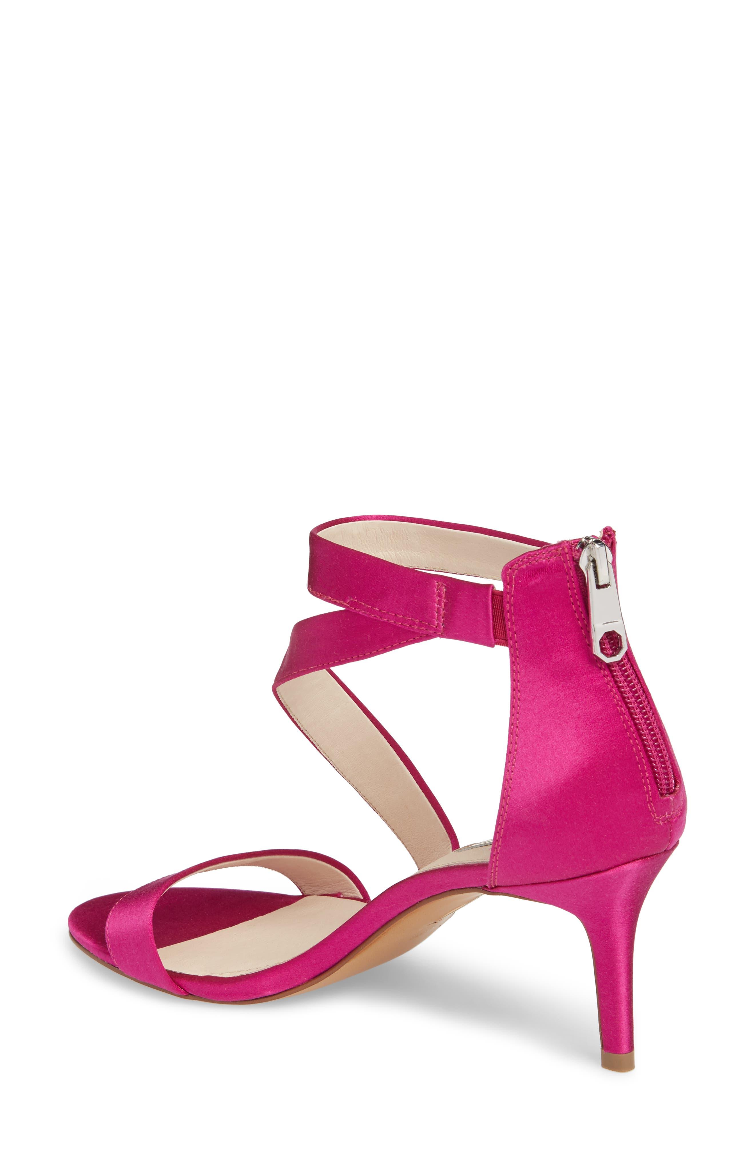 Hilio Sandal,                             Alternate thumbnail 2, color,                             Electric Pink Satin