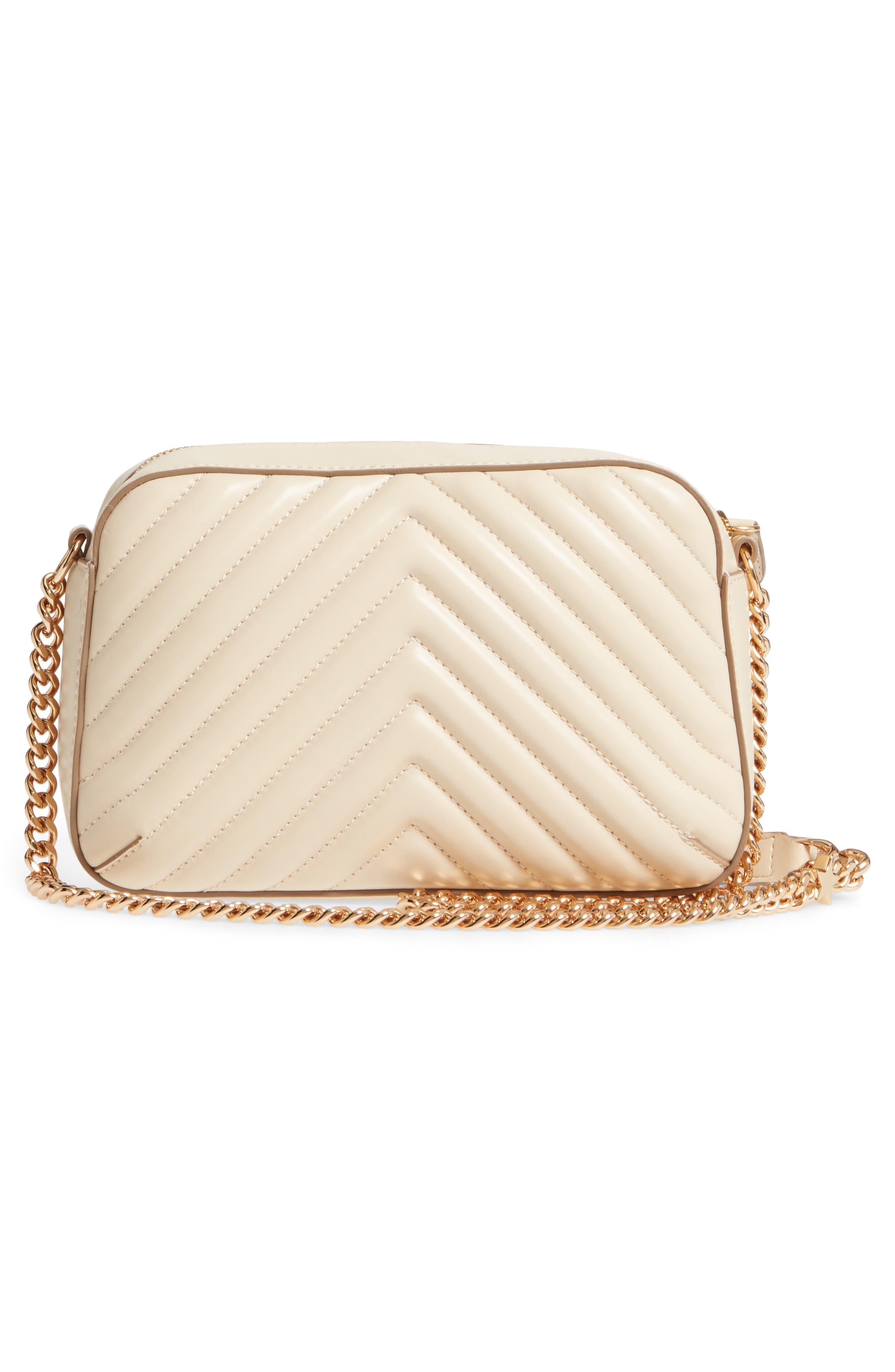 Alter Nappa Faux Leather Shoulder Bag,                             Alternate thumbnail 3, color,                             Cream
