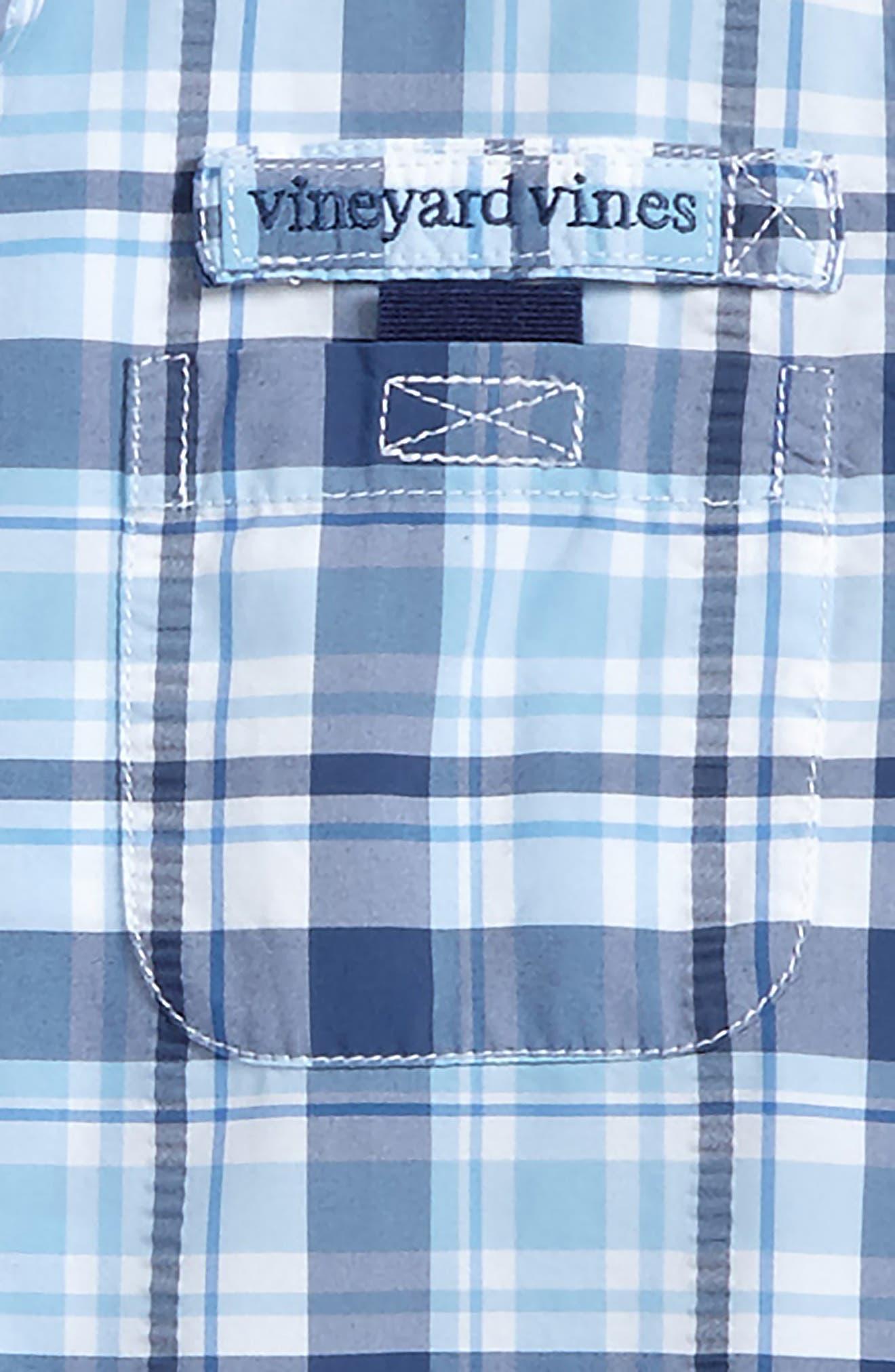 Alternate Image 2  - vineyard vines Harbor Plaid Shirt (Toddler Boys & Little Boys)