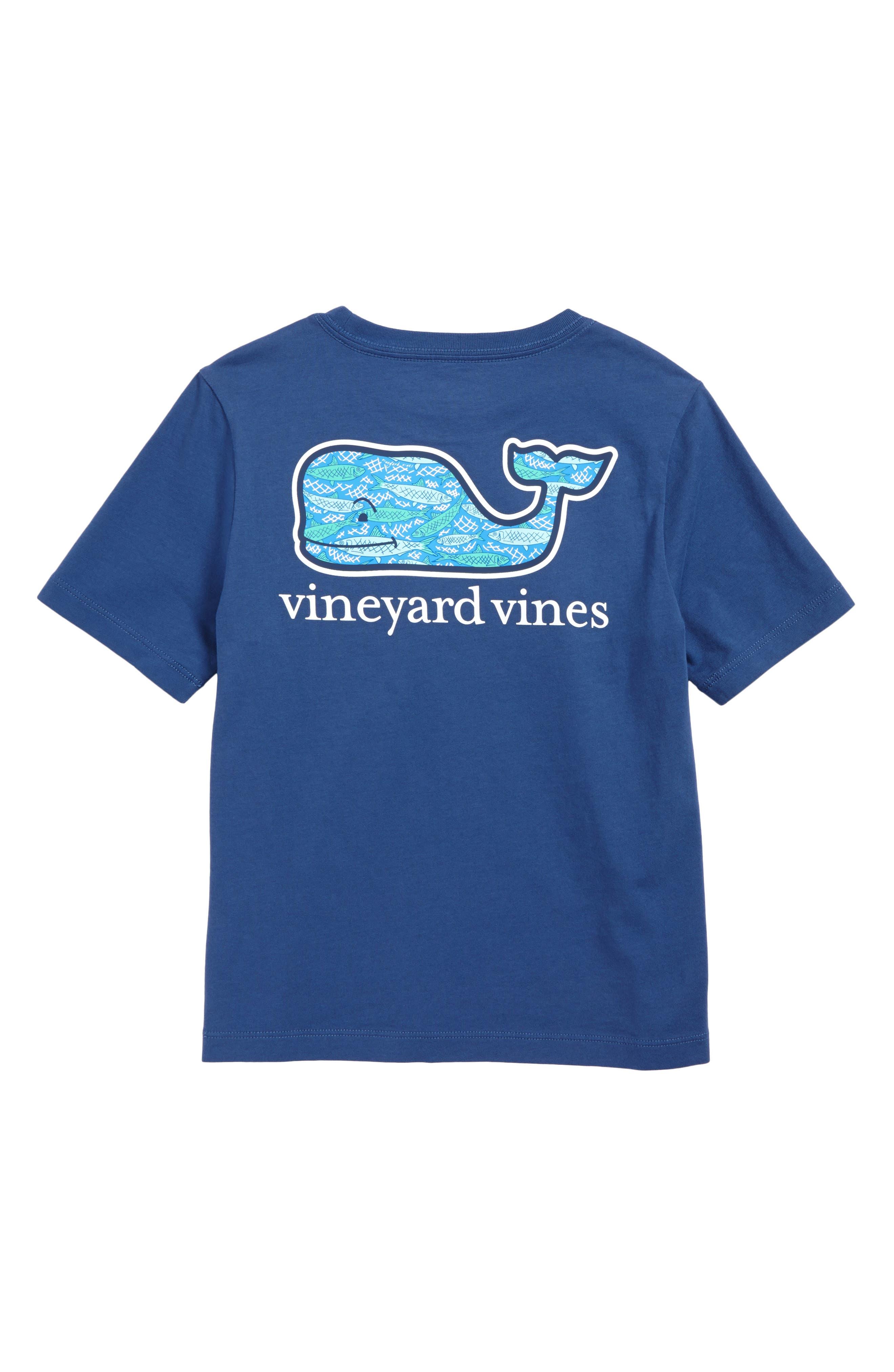 Alternate Image 2  - vineyard vines Fish Scales Whale Pocket T-Shirt (Toddler Boys & Little Boys)