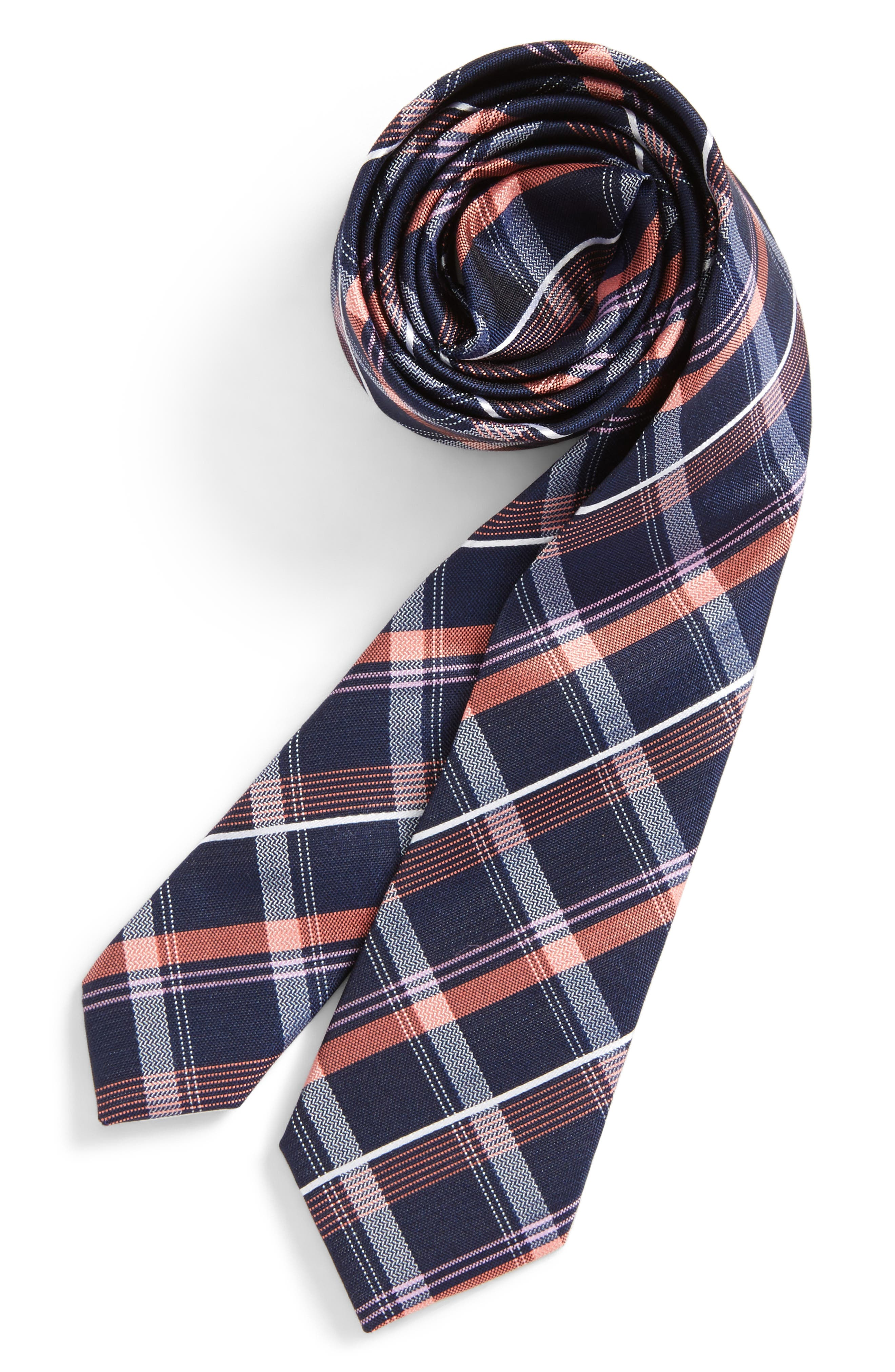 Alternate Image 1 Selected - Nordstrom Check Silk Tie (Boys)