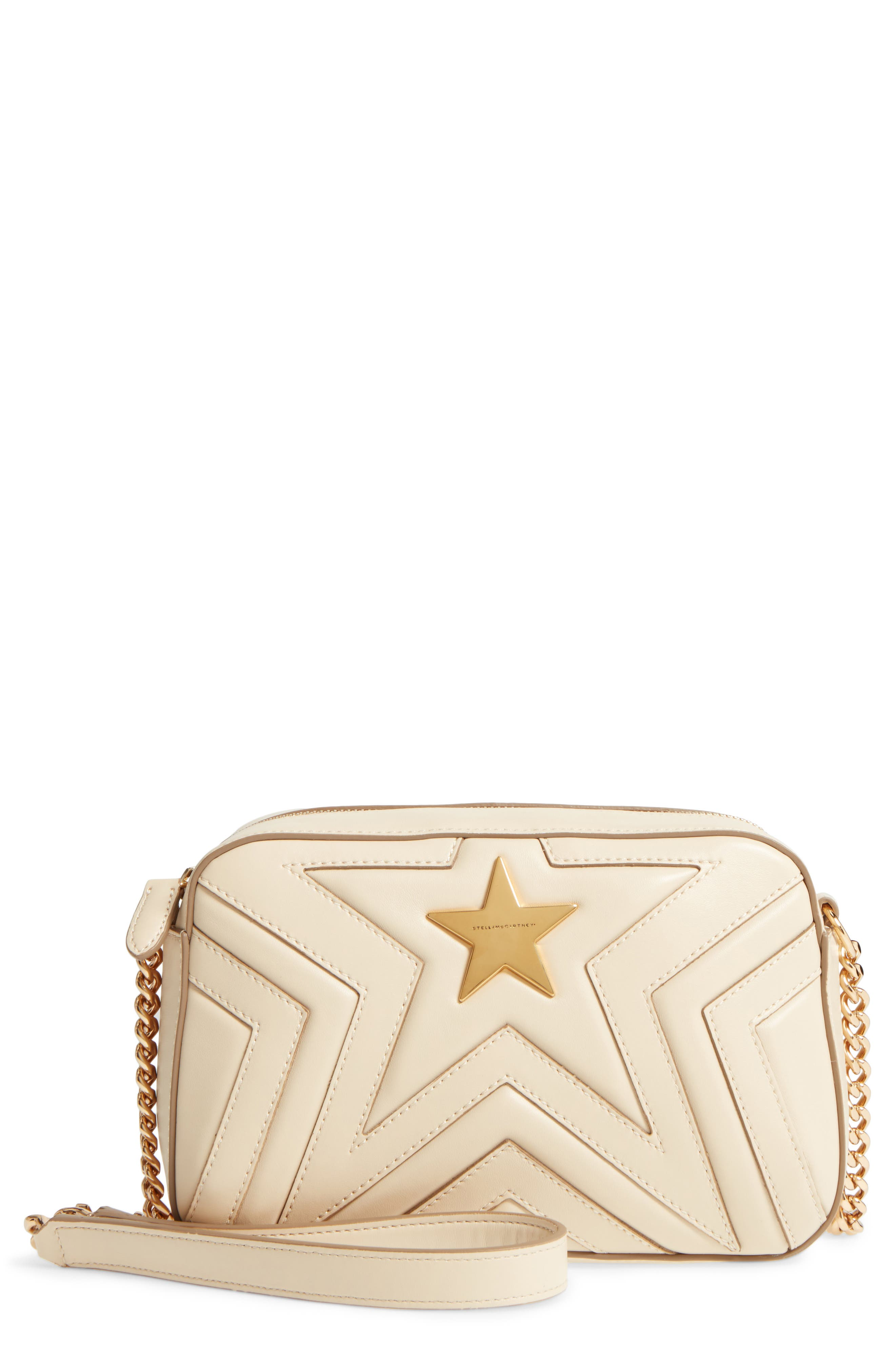Alter Nappa Faux Leather Shoulder Bag,                             Main thumbnail 1, color,                             Cream
